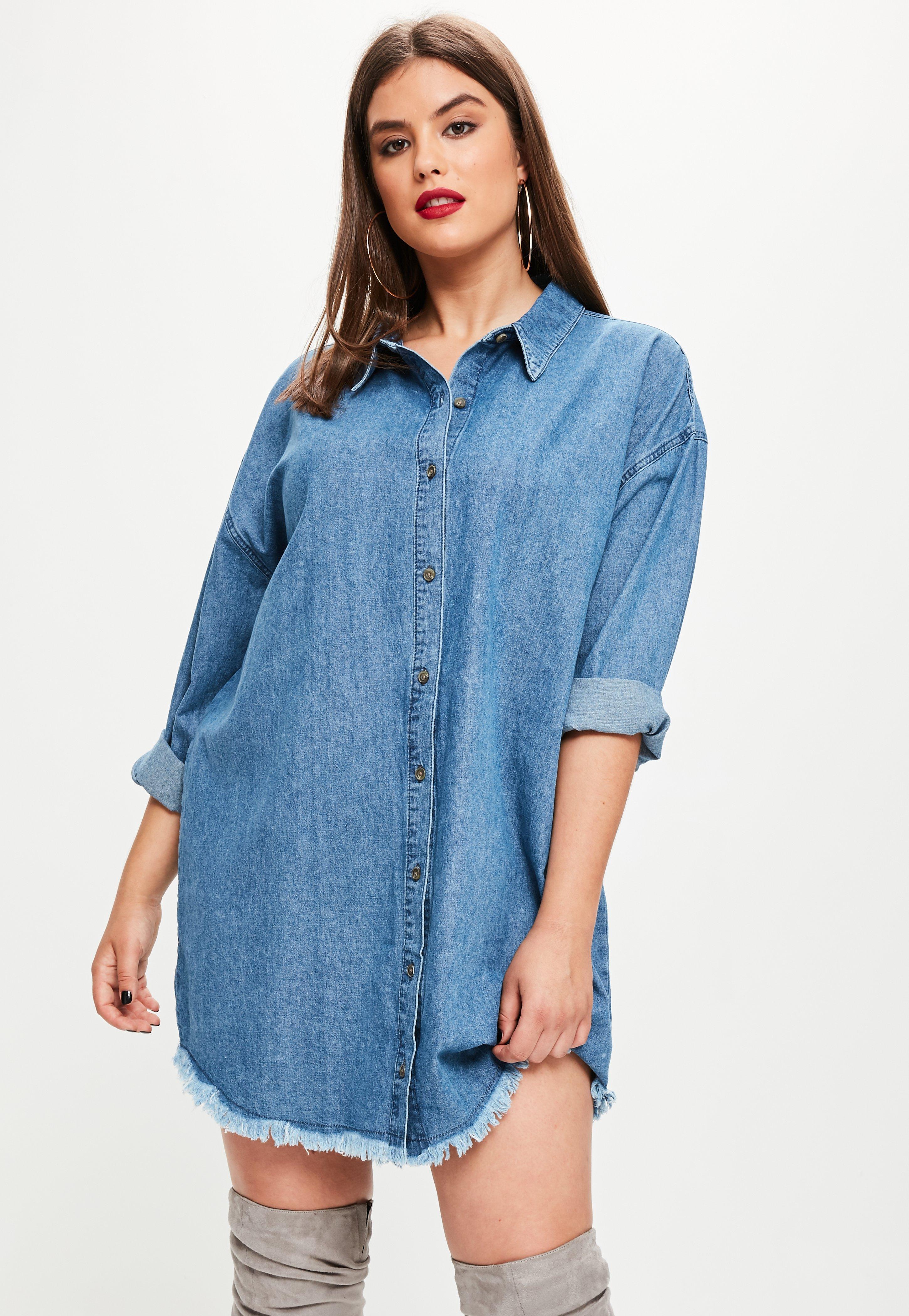 Blue Jean Shirt Dress Plus Size Dress Foto And Picture