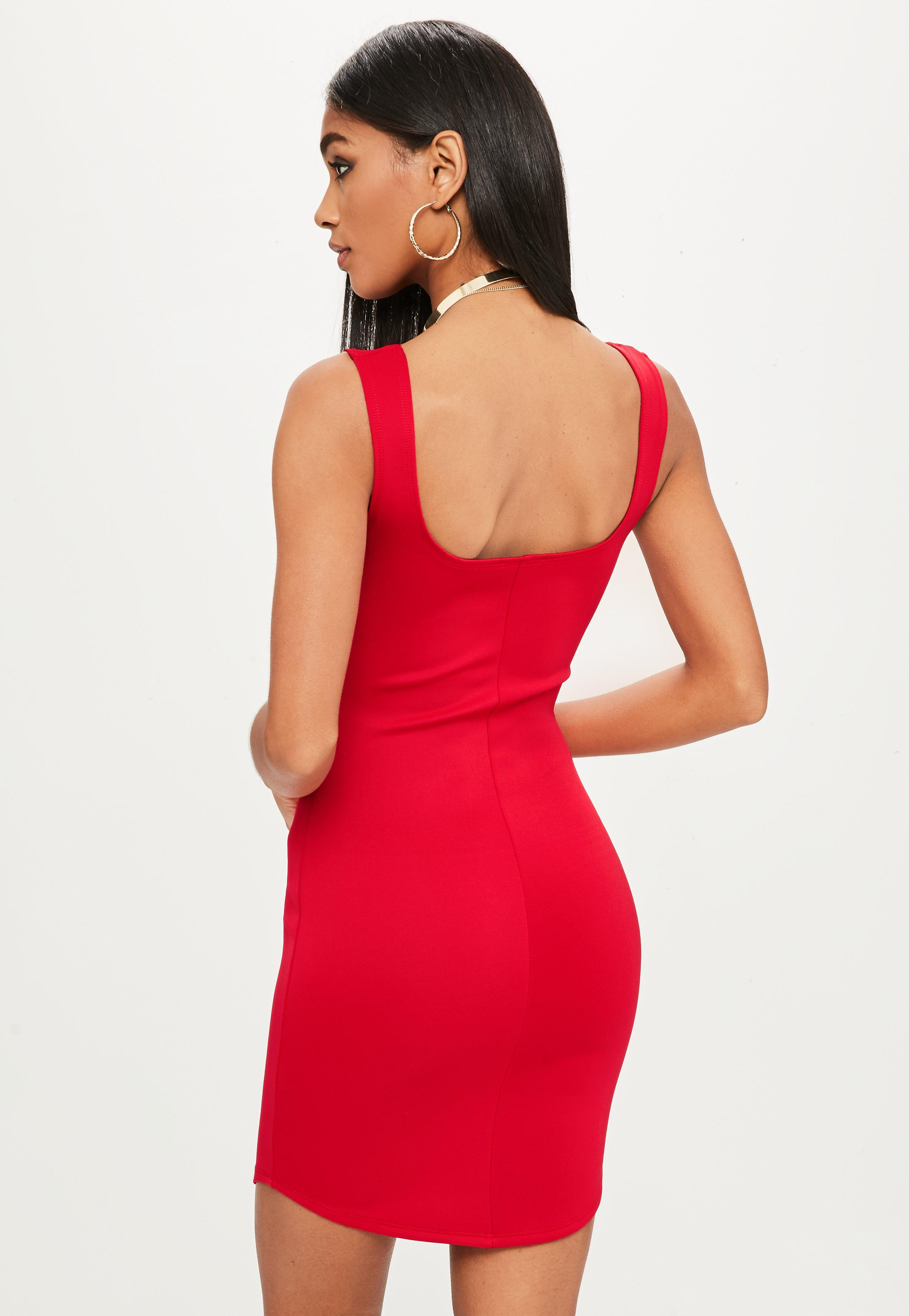 Release Dates For Sale Sast Cheap Online Missguided Pink Scuba Neck Bodycon Dress T4uxbC3