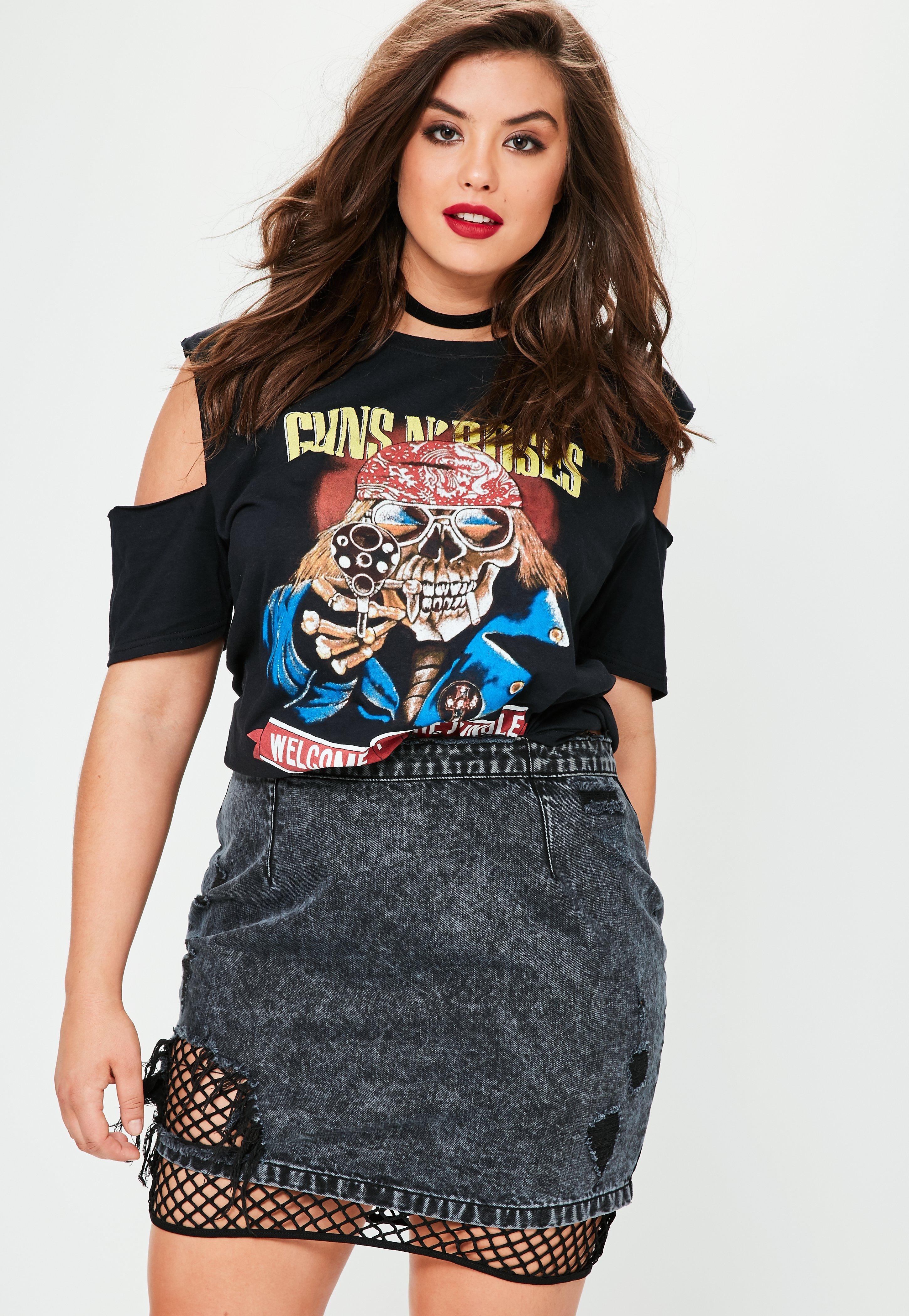 83987aec09e Missguided Plus Size Mottled Denim Fishnet Mini Skirt in Blue - Lyst