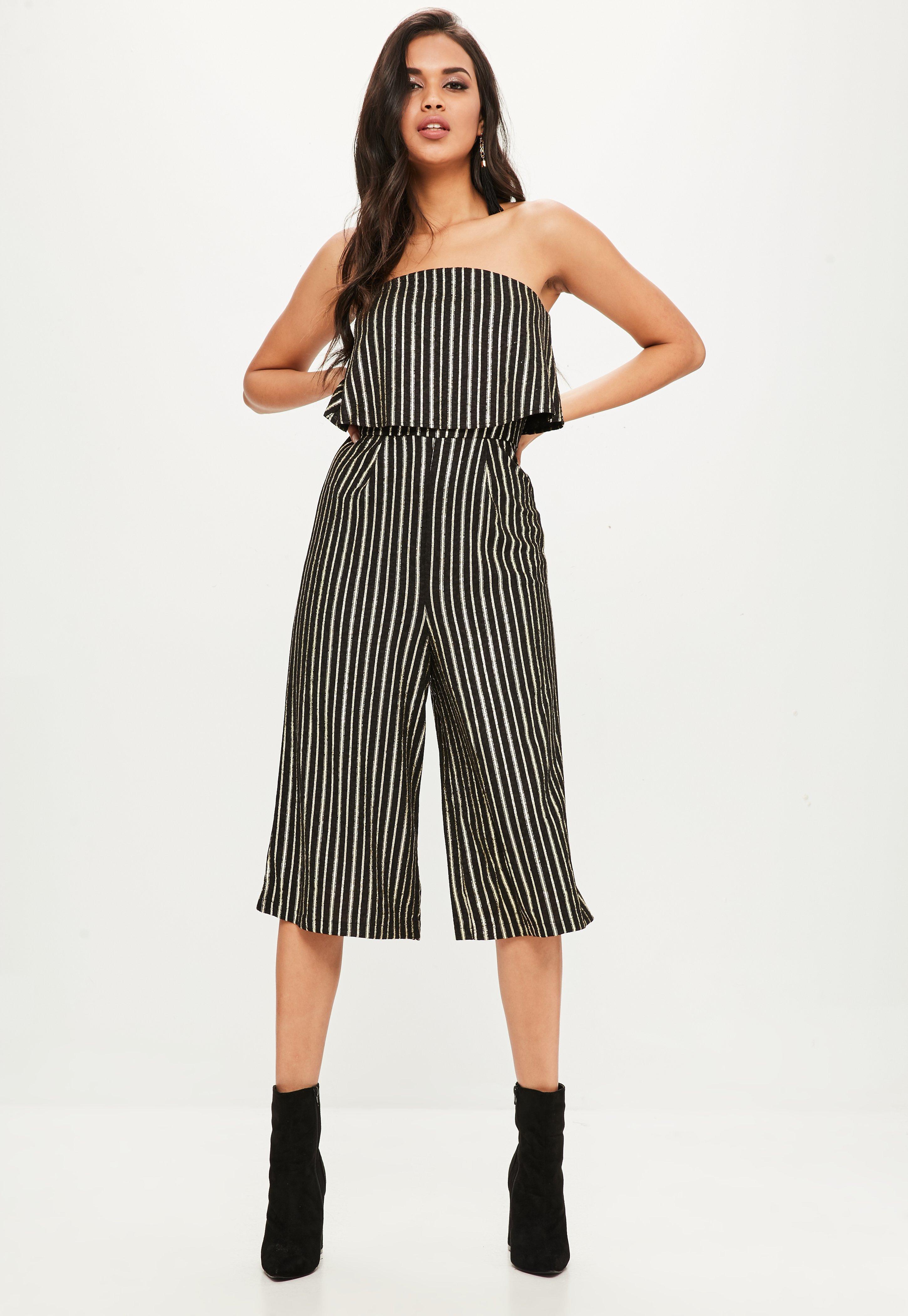 Culotte Missguided Stripe Double Petite Mono Blueorange Layer vm8nO0wN