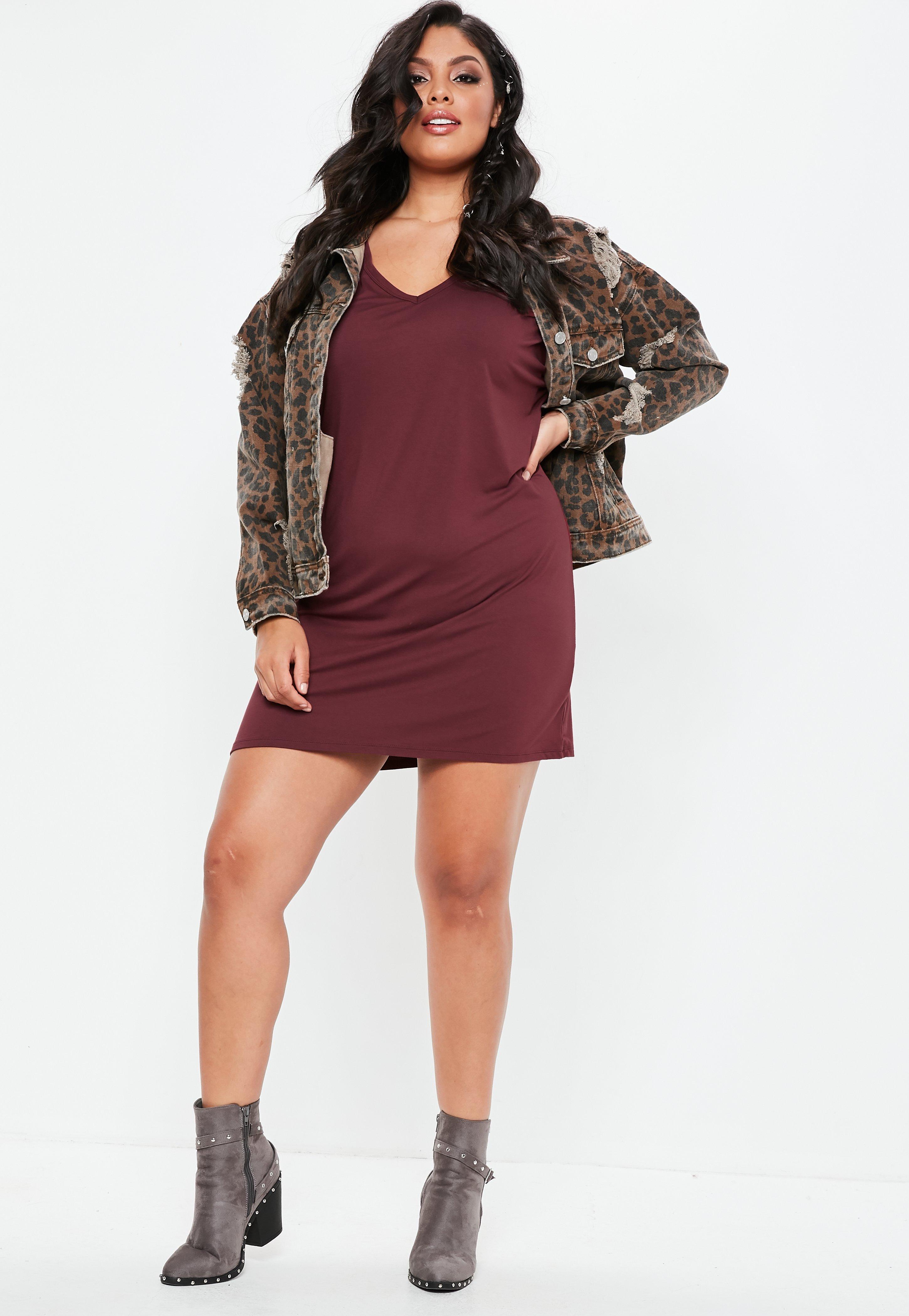 68c09fb2b4cf5 Oversized T Shirt Dress Plus Size