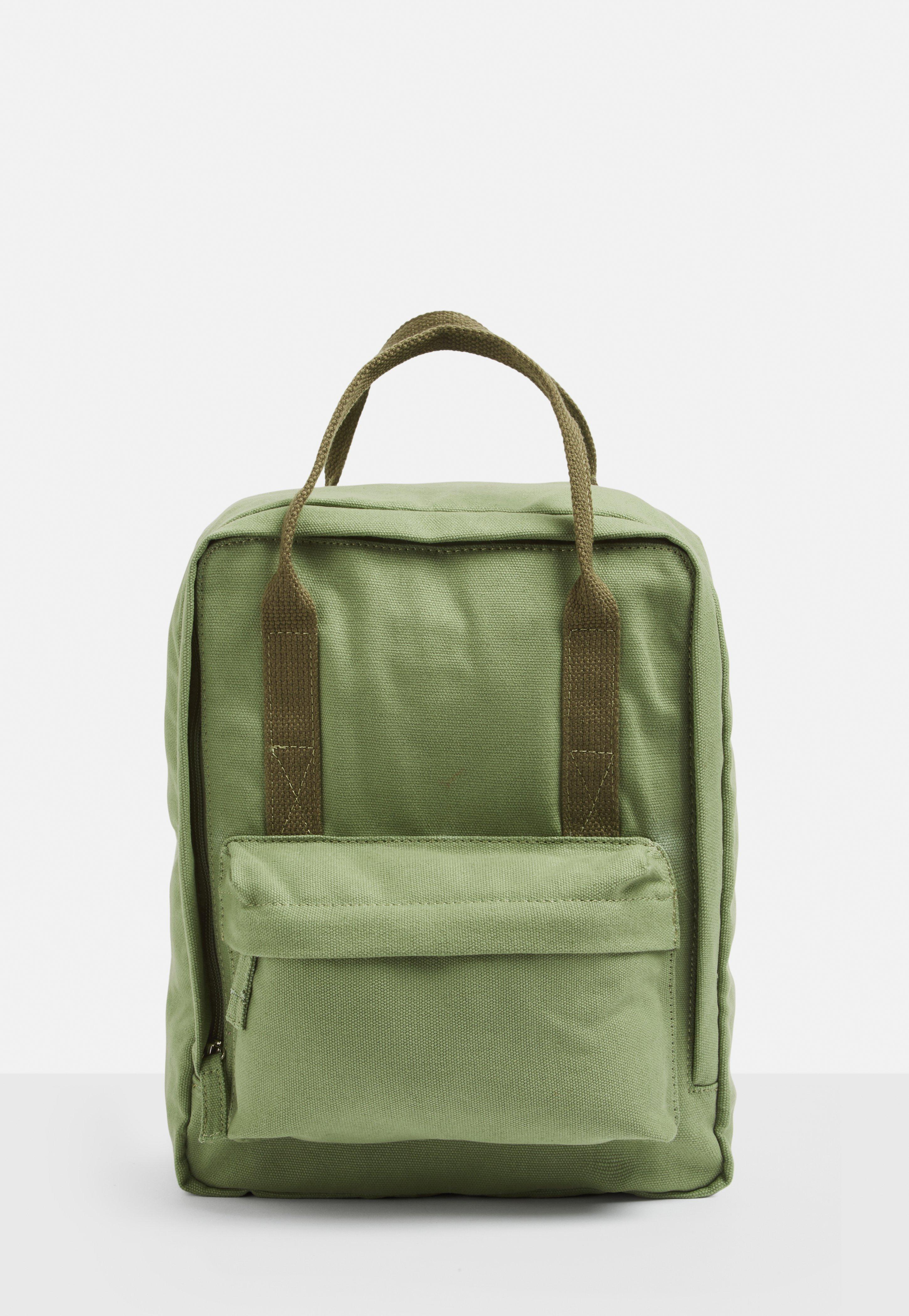 25e54c17b0 Missguided - Green Khaki Canvas Utility Backpack - Lyst. View fullscreen