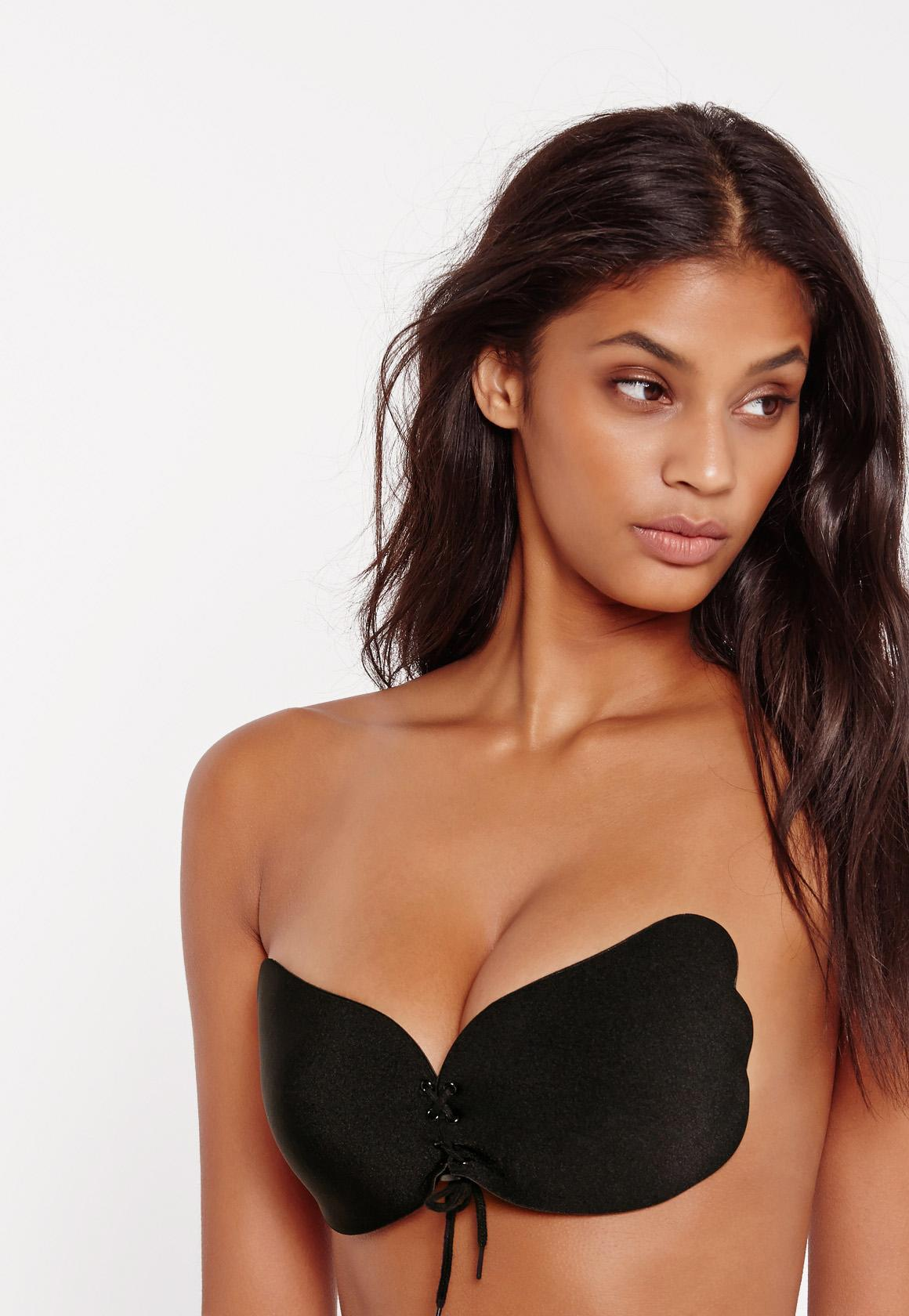 c7247e8084008 Missguided - Strapless Adhesive Push Up Bra Black - Lyst. View fullscreen