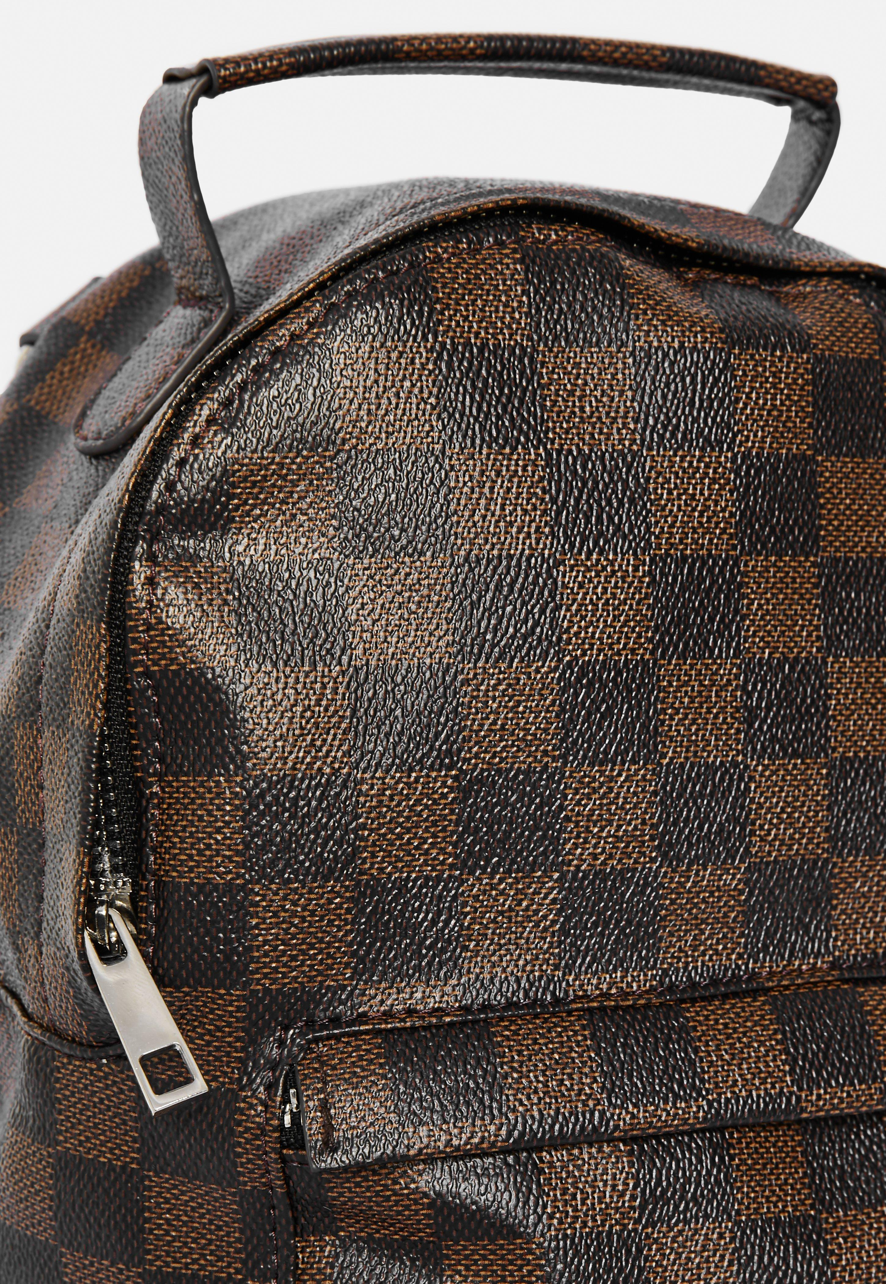 627519cda2 Lyst - Missguided Brown Square Check Mini Backpack in Brown