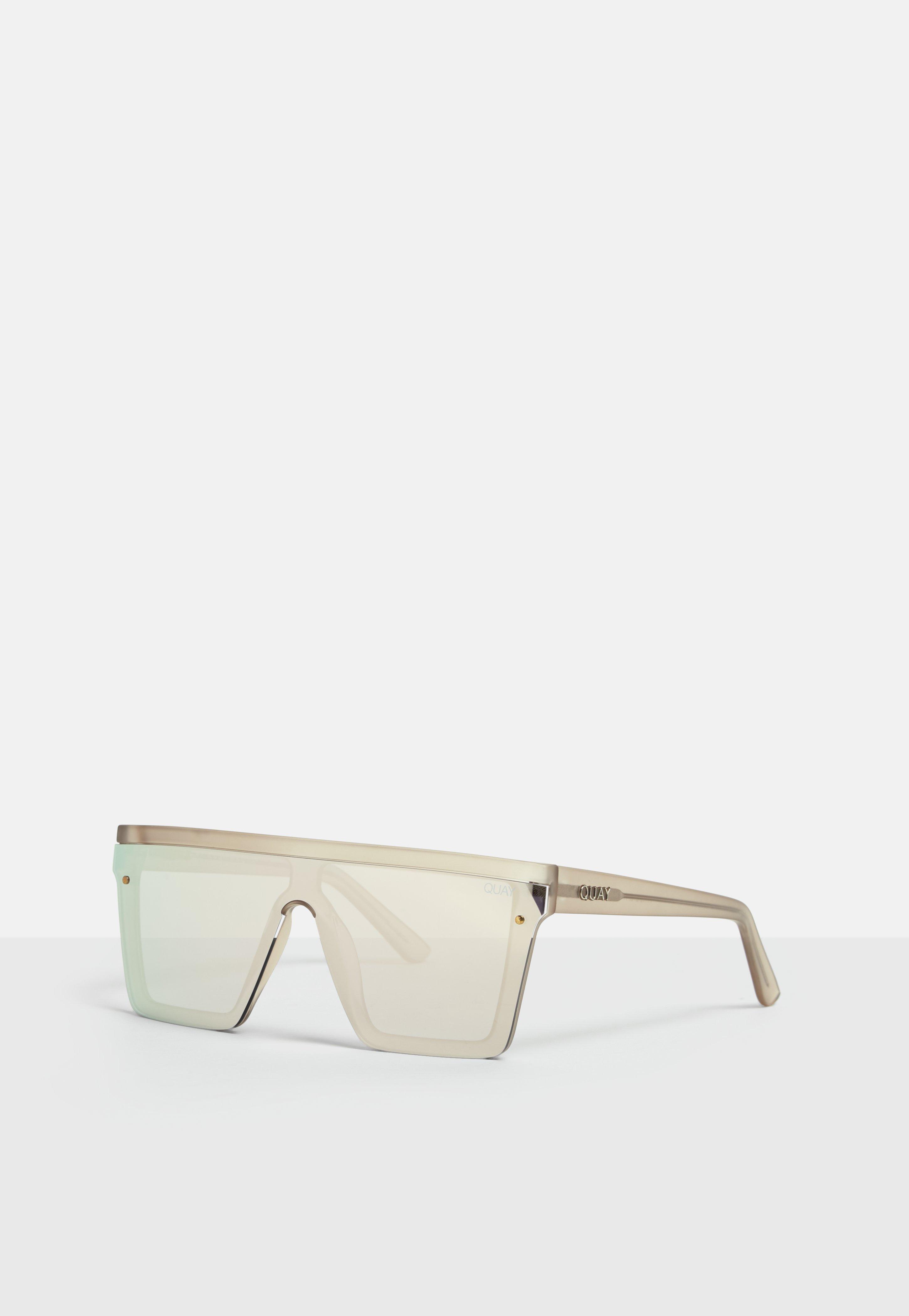 c2878c2e91db9 Missguided - Metallic Quay Australia Hindsight Gold Sunglasses - Lyst. View  fullscreen