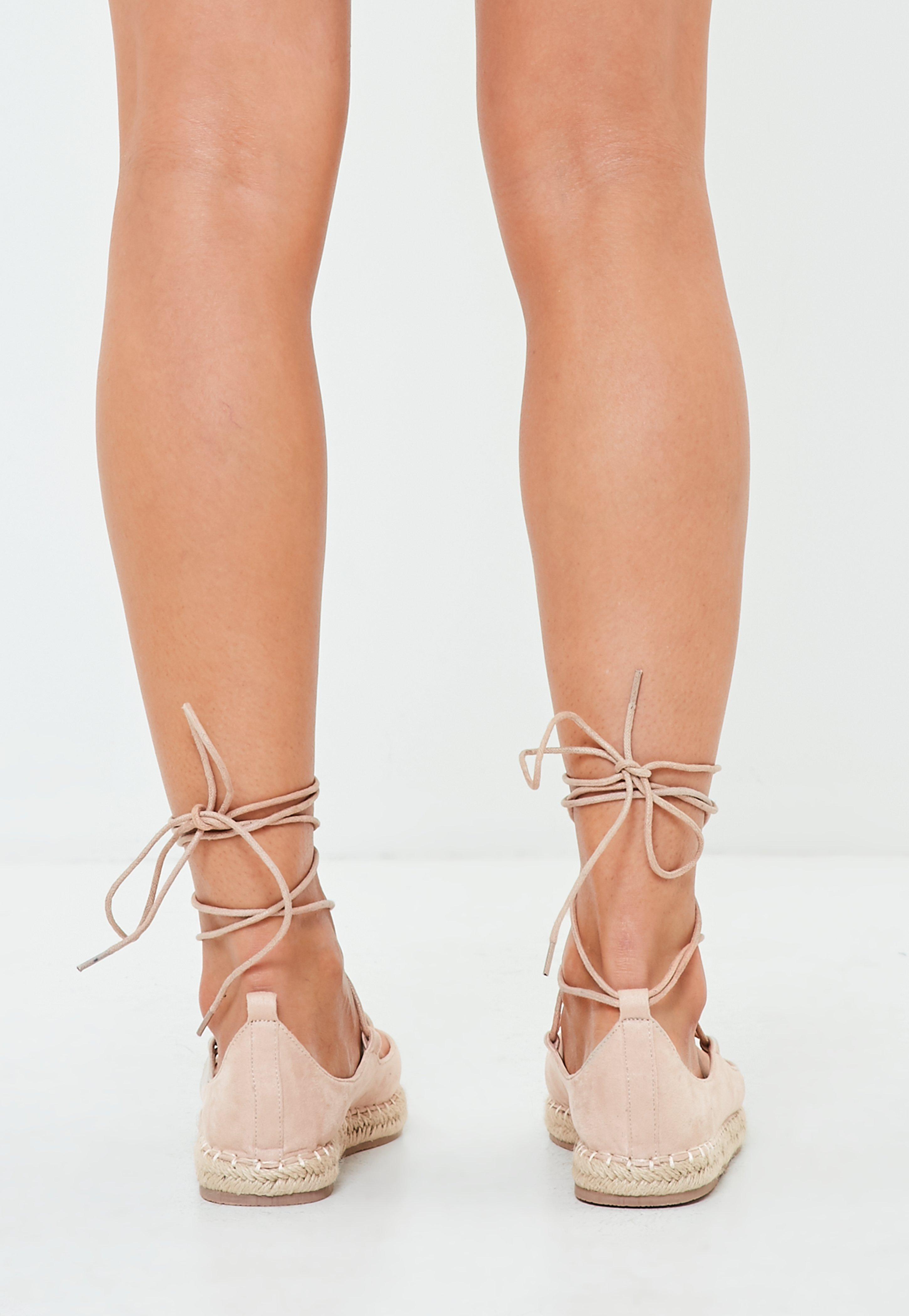 Topshop Gladiator Sandals in Natural | Lyst