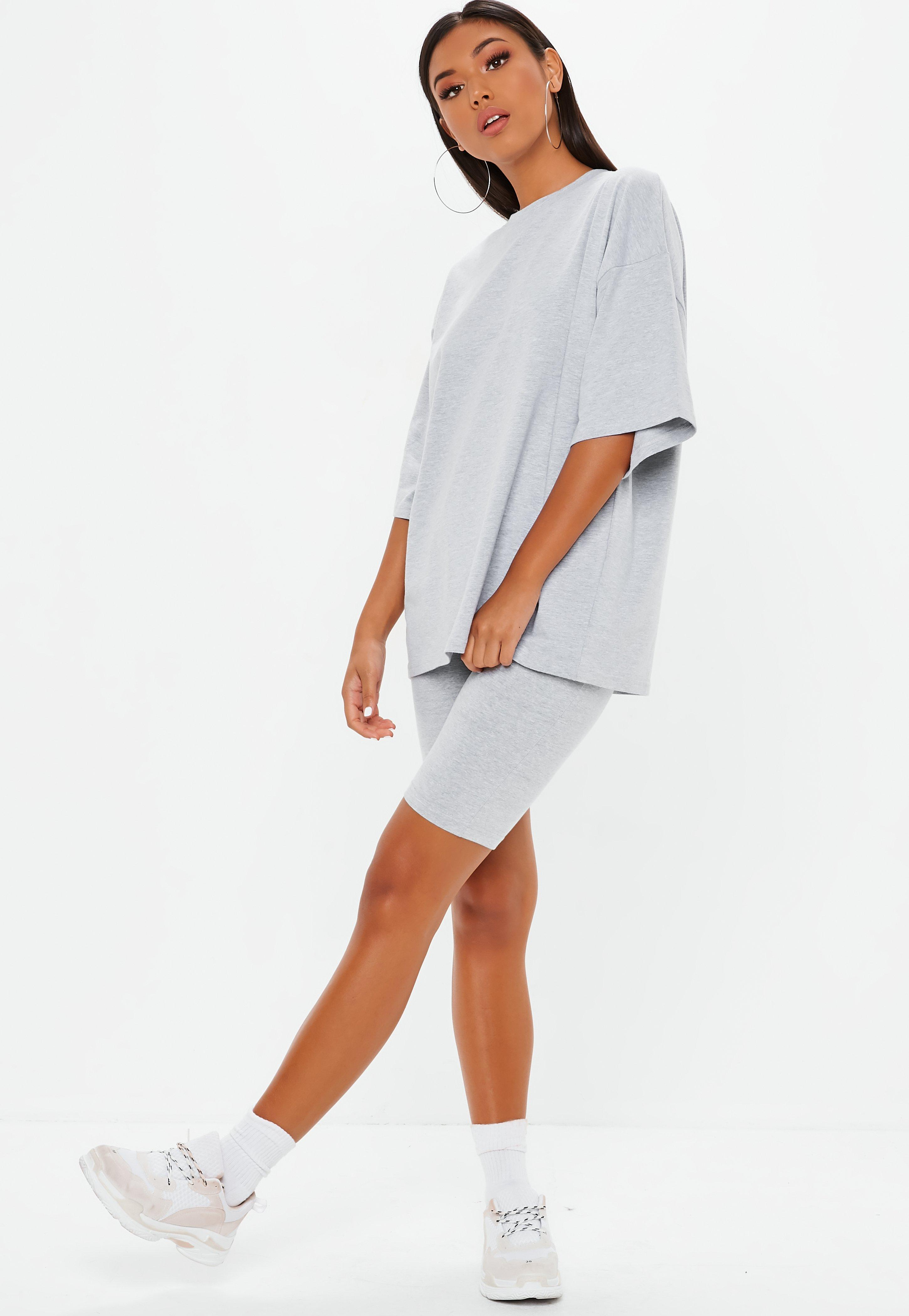 a0c179252 Missguided Gray Drop Shoulder Oversized T Shirt in Gray - Lyst