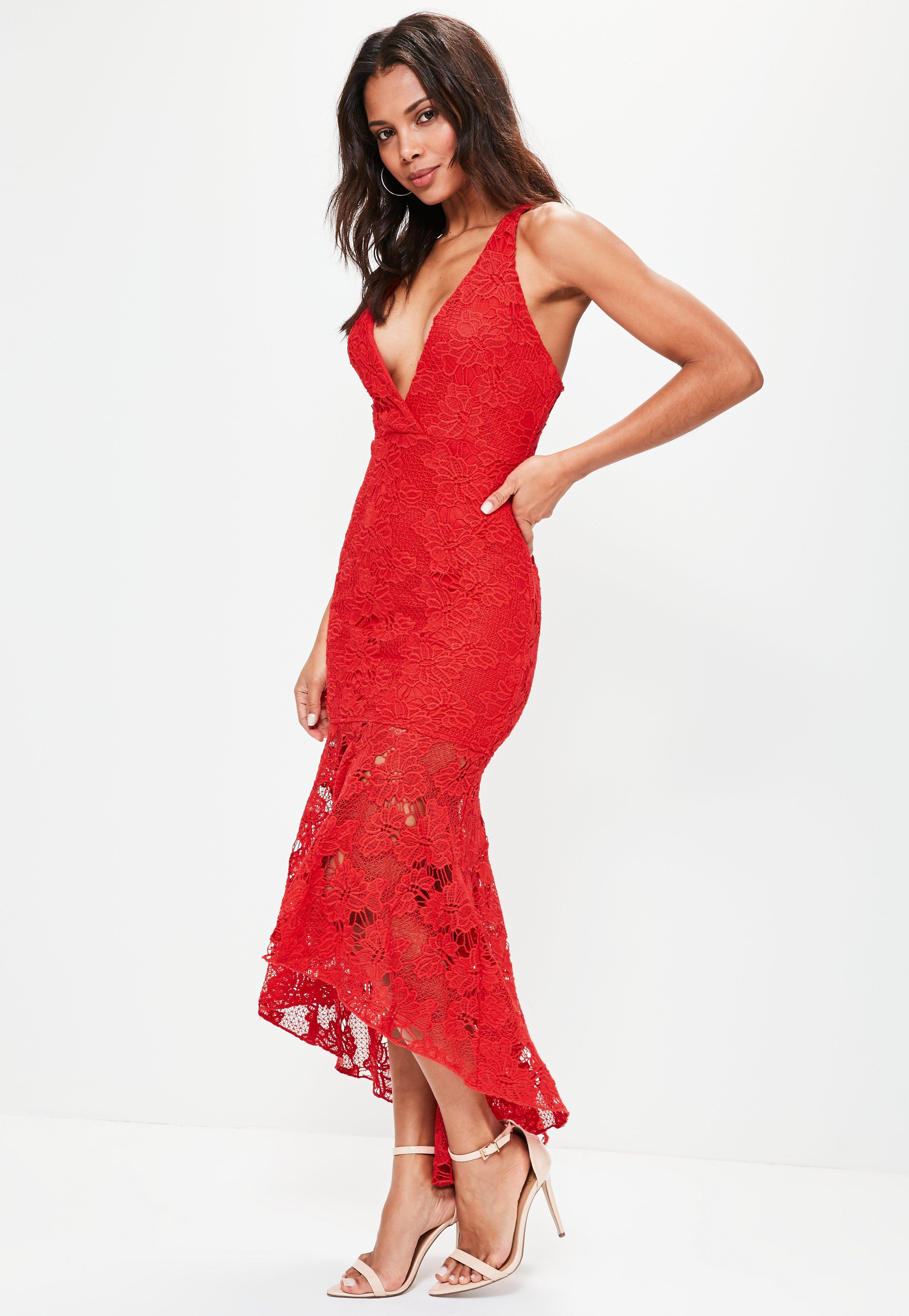 Red Lace Tail Dress Foto And Picture. Modest Red Lace Tail Dress With Sleeves  2208 9079a4196