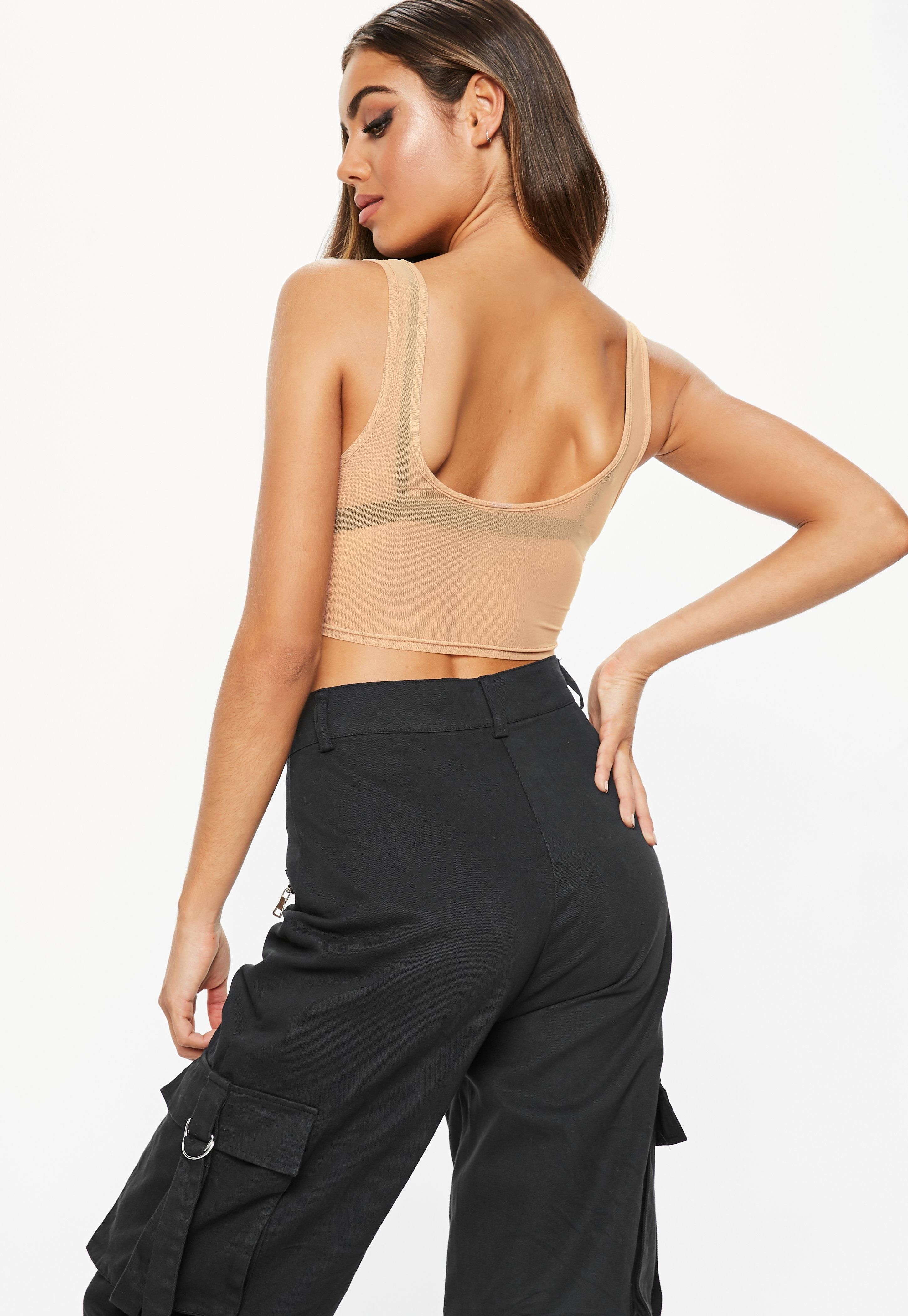 163838749a Missguided - Multicolor Fanny Lyckman X Nude Mesh Tomboy Bralette - Lyst.  View fullscreen