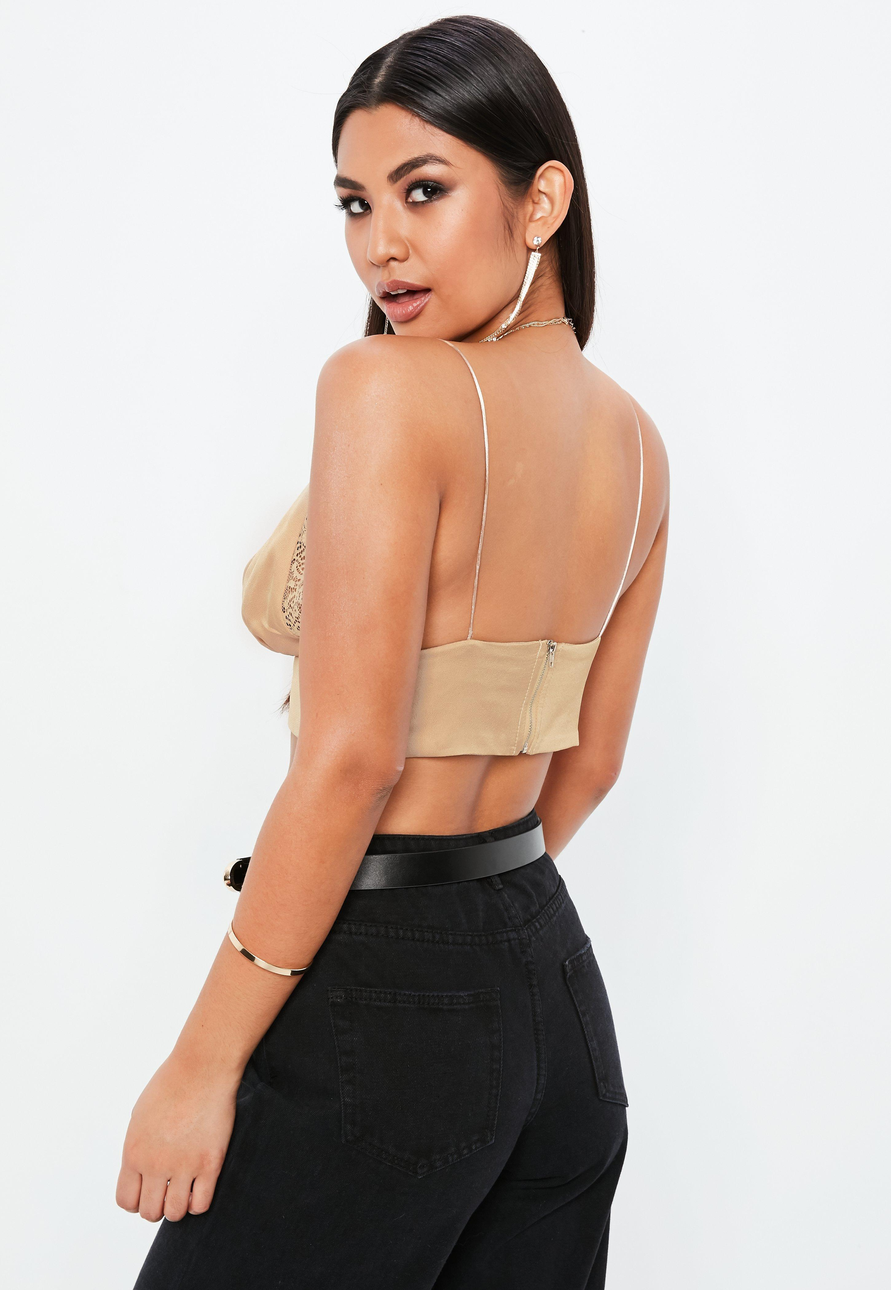 Lyst - Missguided Grey Cami Crop Top in Gray