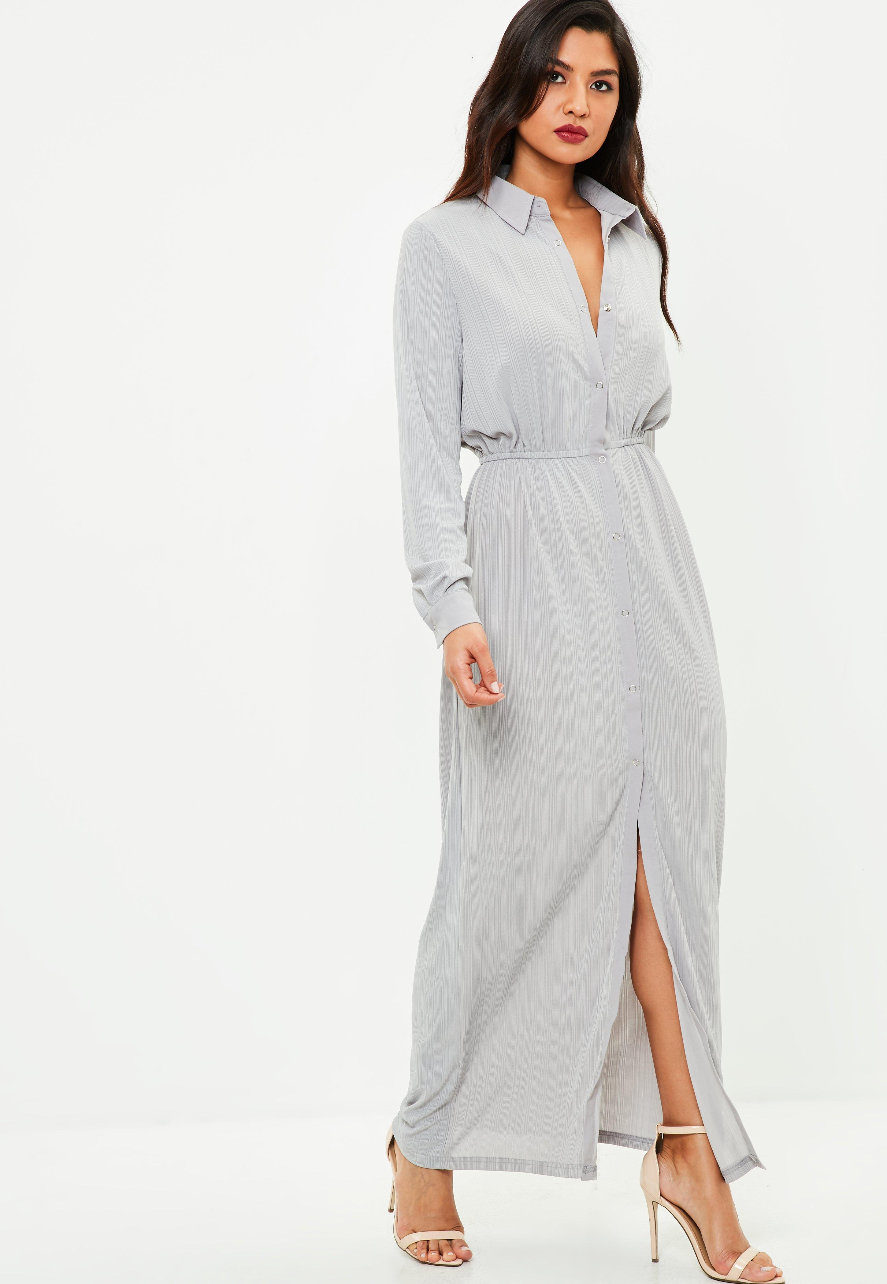 e495d7a0c53 Missguided Grey Utility Maxi Dress in Gray - Lyst