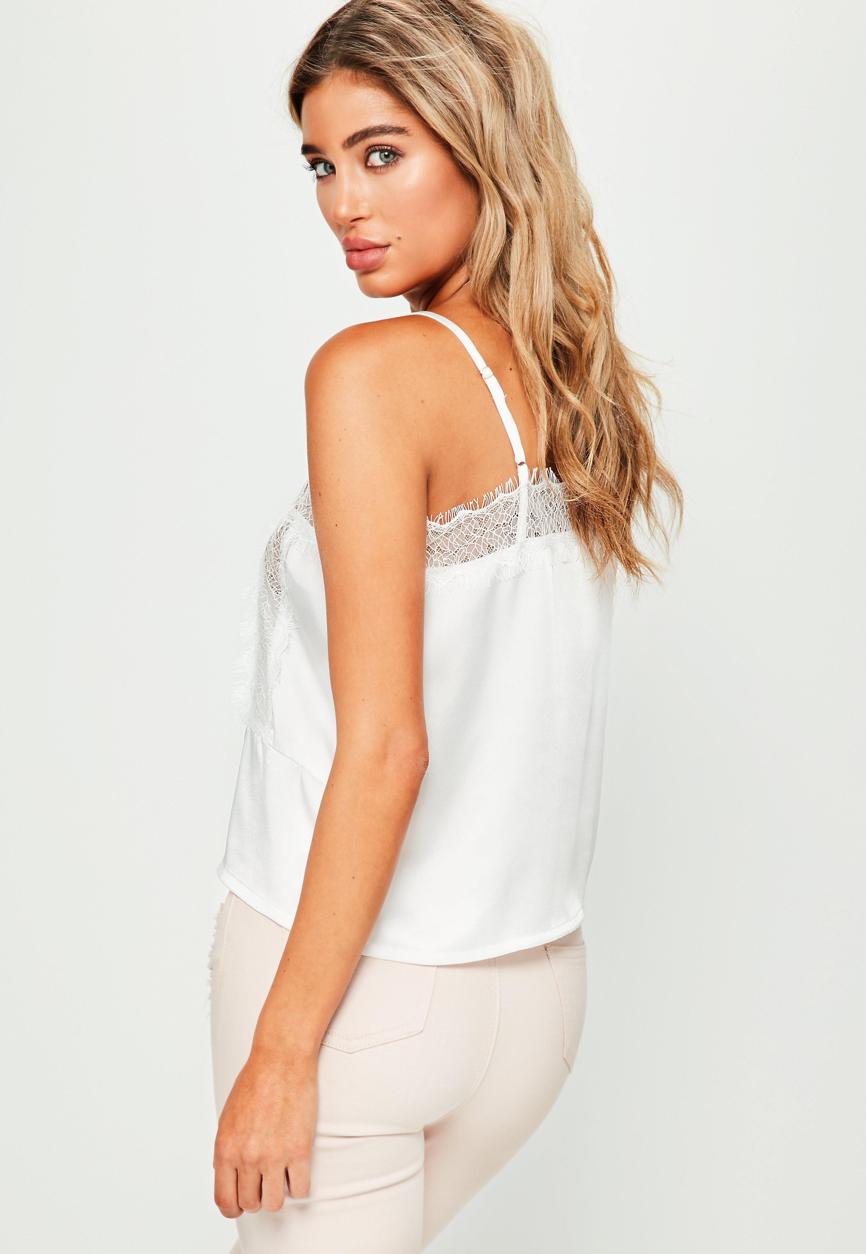 d51dbcf948e22 Lyst missguided white lace insert cami crop top in white jpg 2900x4200  Insert cami missguided lace