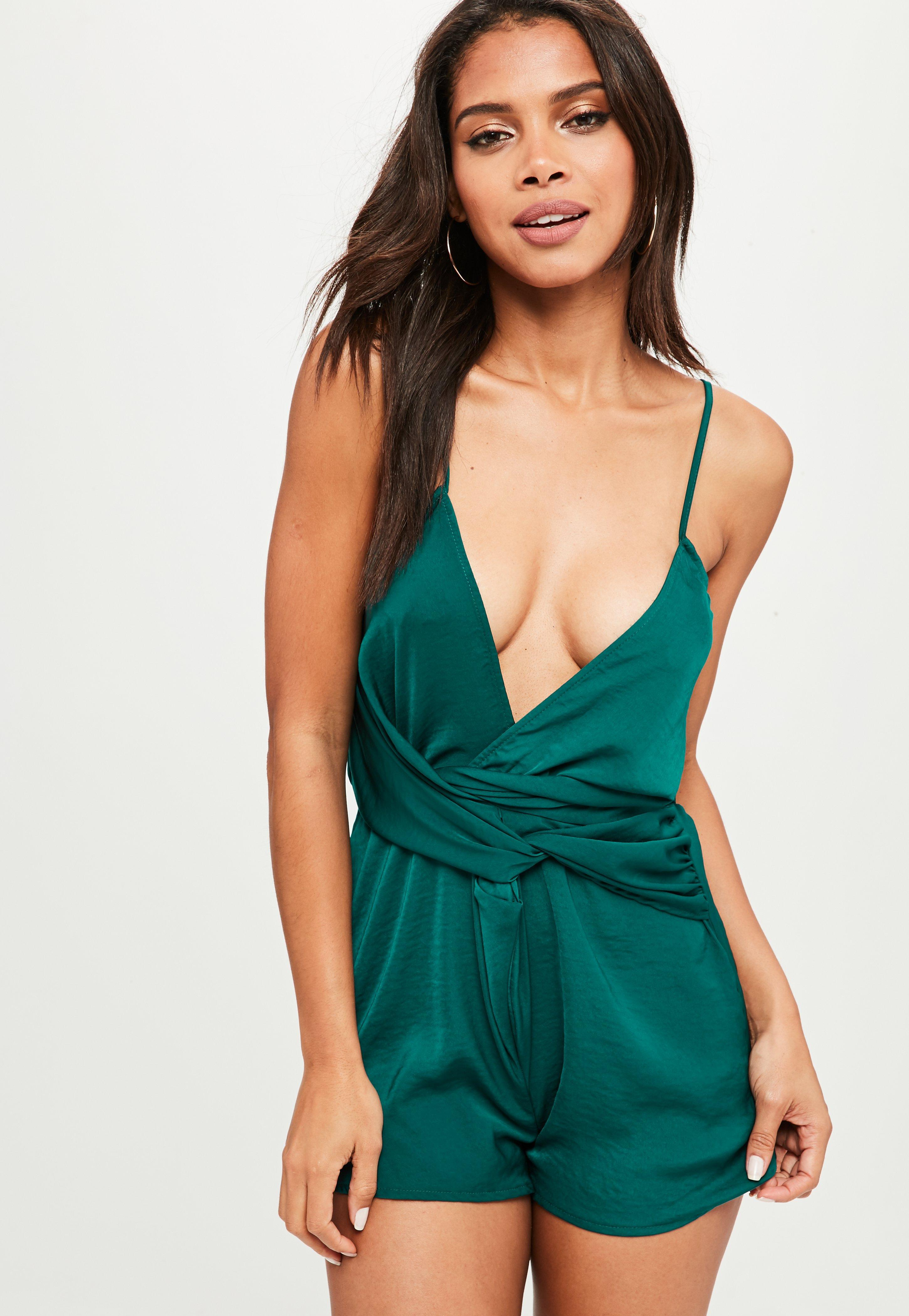 Lyst - Missguided Drape Wrap Mini Dress Red in Red