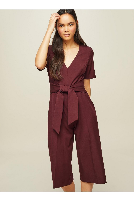 14689e0feca Lyst - Miss Selfridge Petite Short Sleeve Jumpsuit in Purple