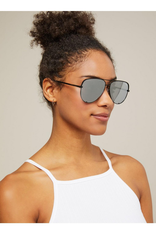 5cd6ba8ae5df2 Miss Selfridge. Women s Metallic Quay Australia High Key Silver Aviator  Sunglasses