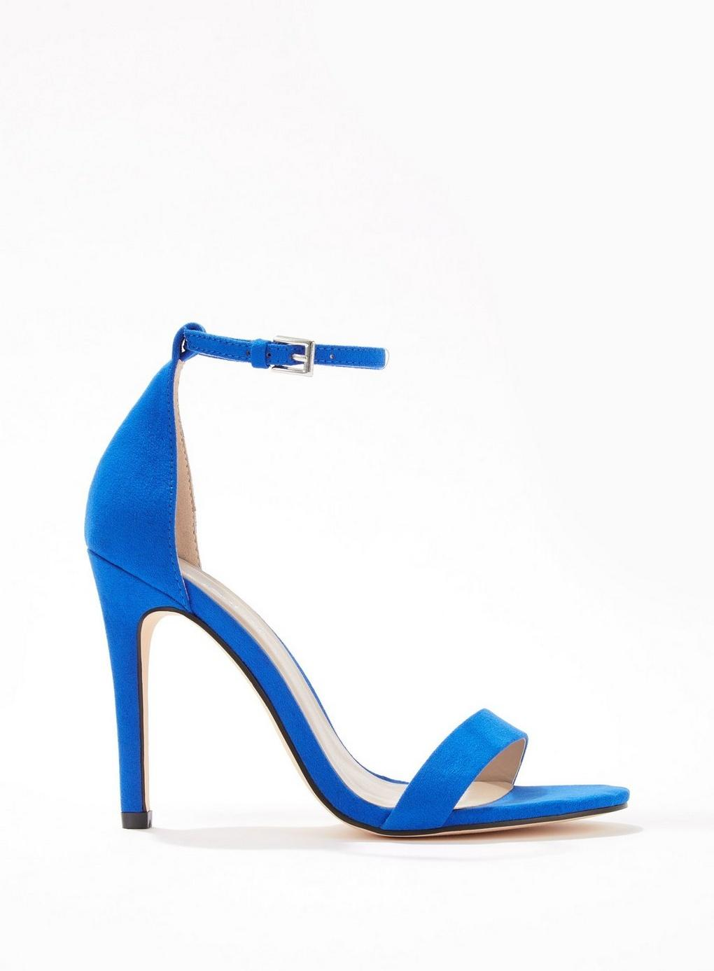 301394b4420 Lyst - Miss Selfridge Hester Blue Barely There Sandals in Blue