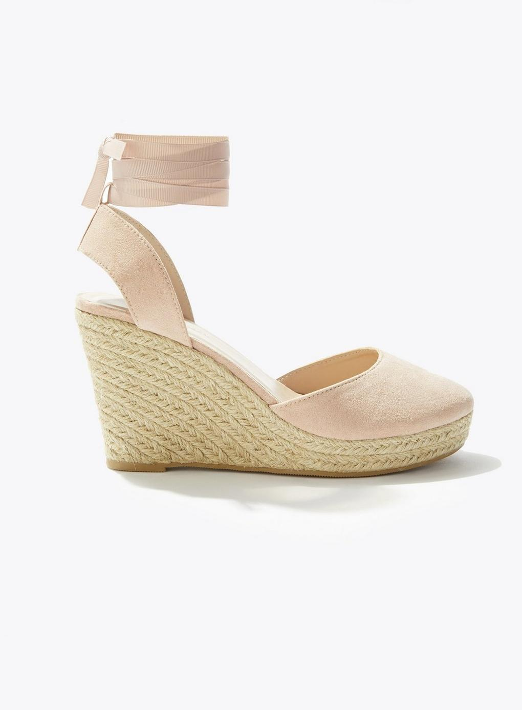 e570f134a0d7 Lyst - Miss Selfridge Wesley Nude Closed Toe Espadrilles in Natural