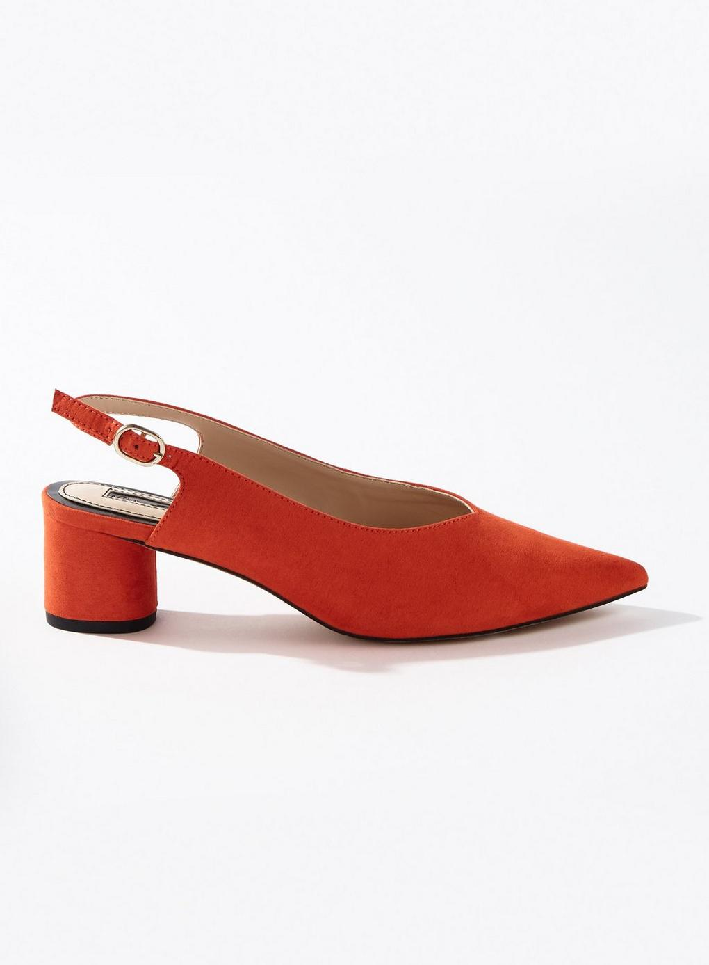 836c40043a68 Miss Selfridge Clara Red Round Heel Sling Back Shoes in Red - Lyst