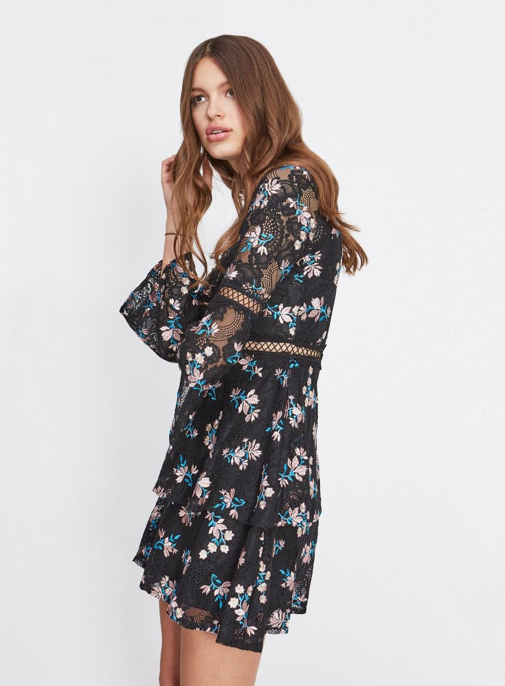 Miss Selfridge. Women s Dolly And Delicious Black Embroidered Insert Dress 1b55116eb