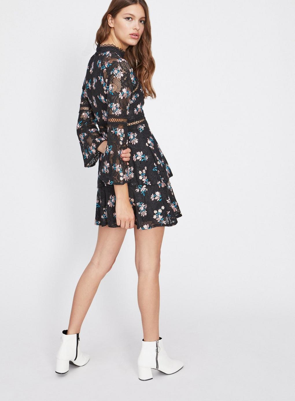 Miss Selfridge - Dolly And Delicious Black Embroidered Insert Dress - Lyst.  View fullscreen 310b4d878