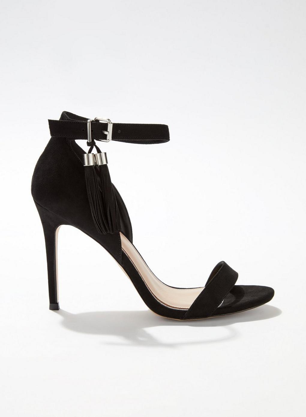 cba6f282bf24 Lyst - Miss Selfridge Hara Tassel Stiletto Heel in Black
