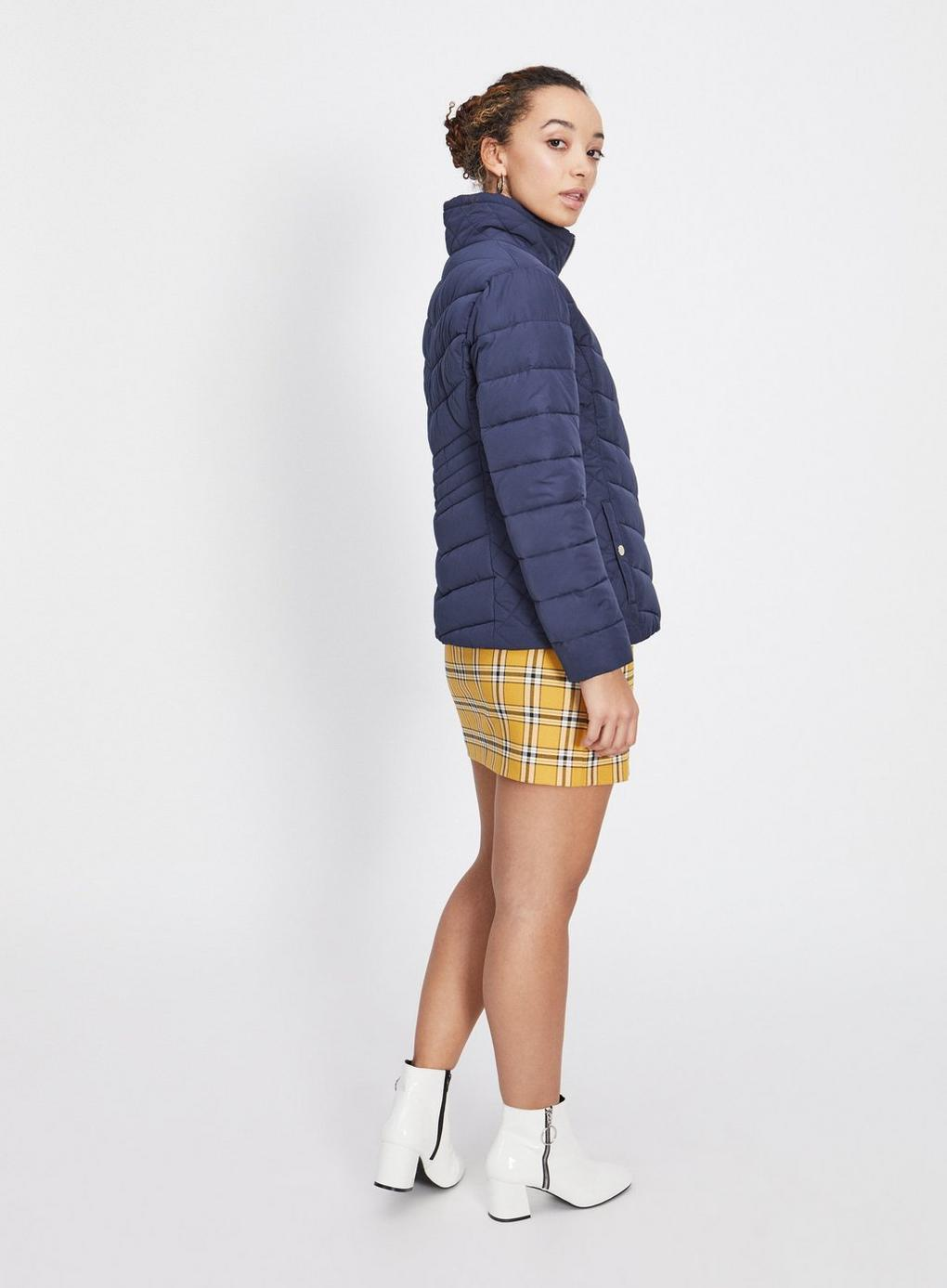 60bbd5219c3 Miss Selfridge - Blue Petite Navy Puffer Coat - Lyst. View fullscreen