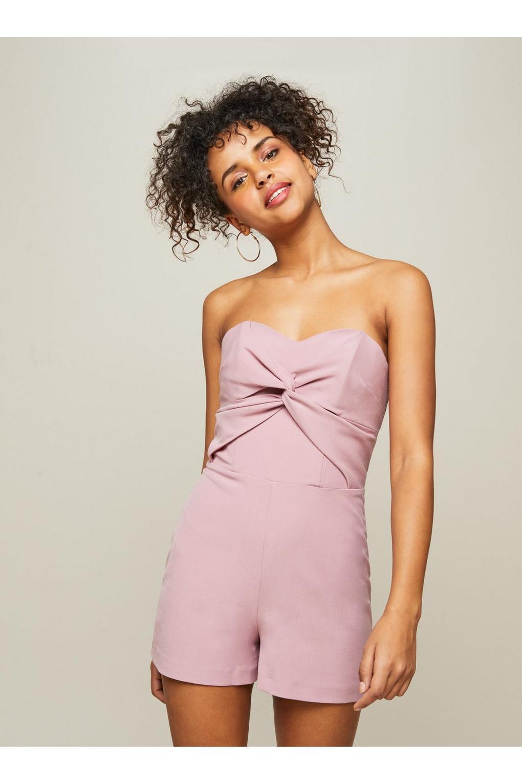 7f85cf0d483 Miss Selfridge Twist Front Bandeau Playsuit in Pink - Lyst