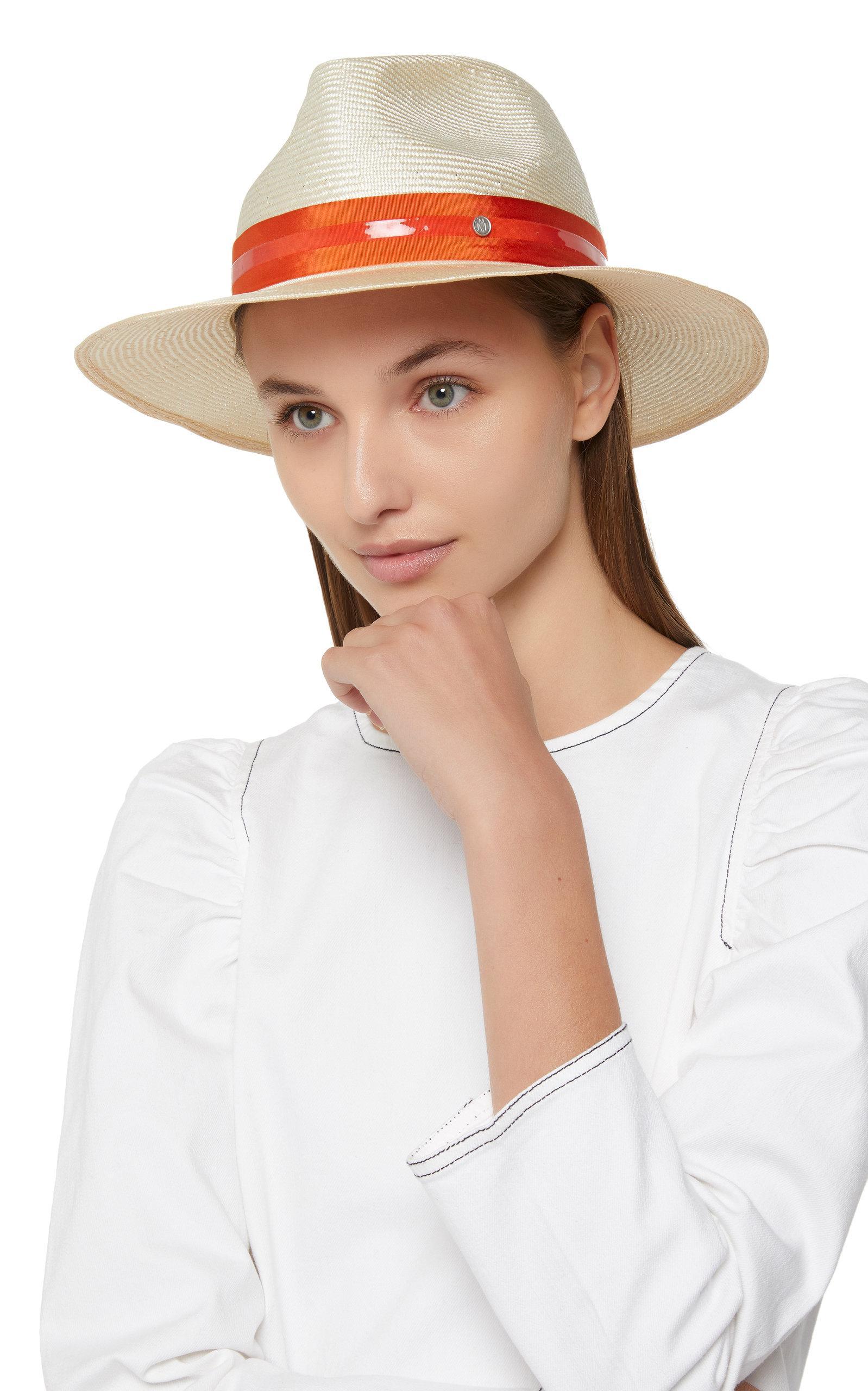 e29f33125ecd46 Maison Michel - Multicolor Rico Straw Fedora Hat - Lyst. View fullscreen