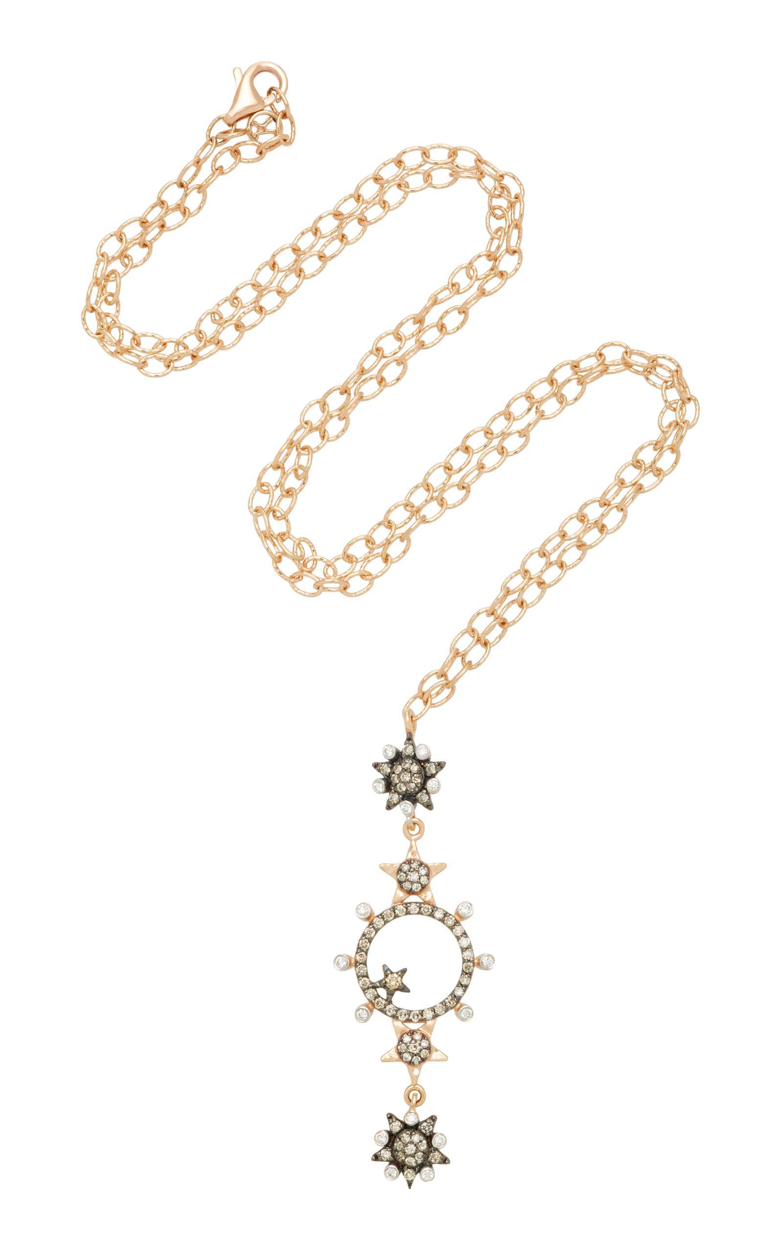 Kismet by Milka Eclectic White & Champagne Diamond Star Necklace NbnOASYA