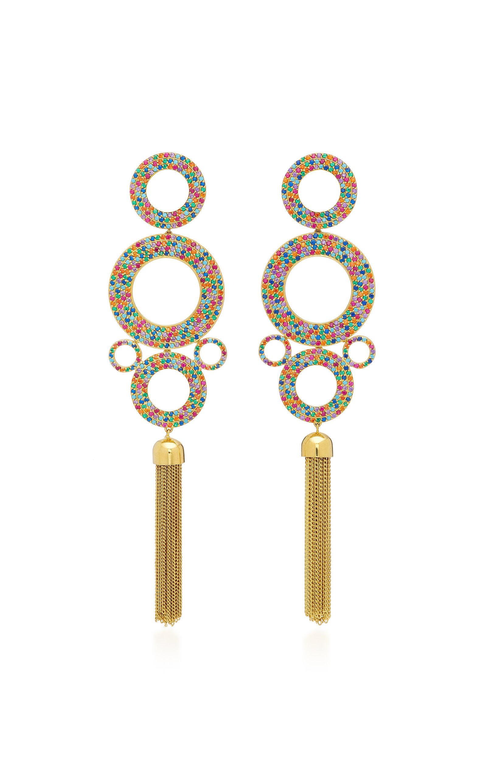 Grommet Gold-Plated Brass and Cubic Zirconia Statement Earrings Joanna Laura Constantine qzzZpsH
