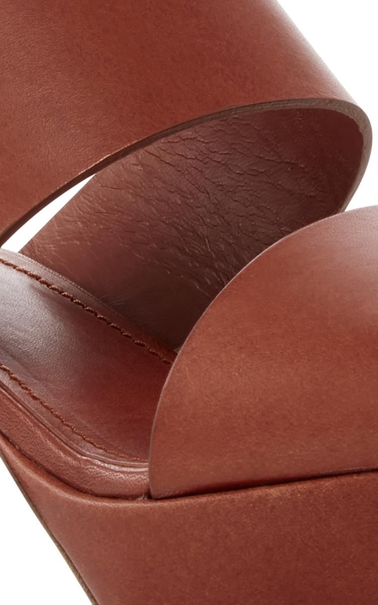 Lyst Mansur Gavriel Double Strap Sandals In Brown