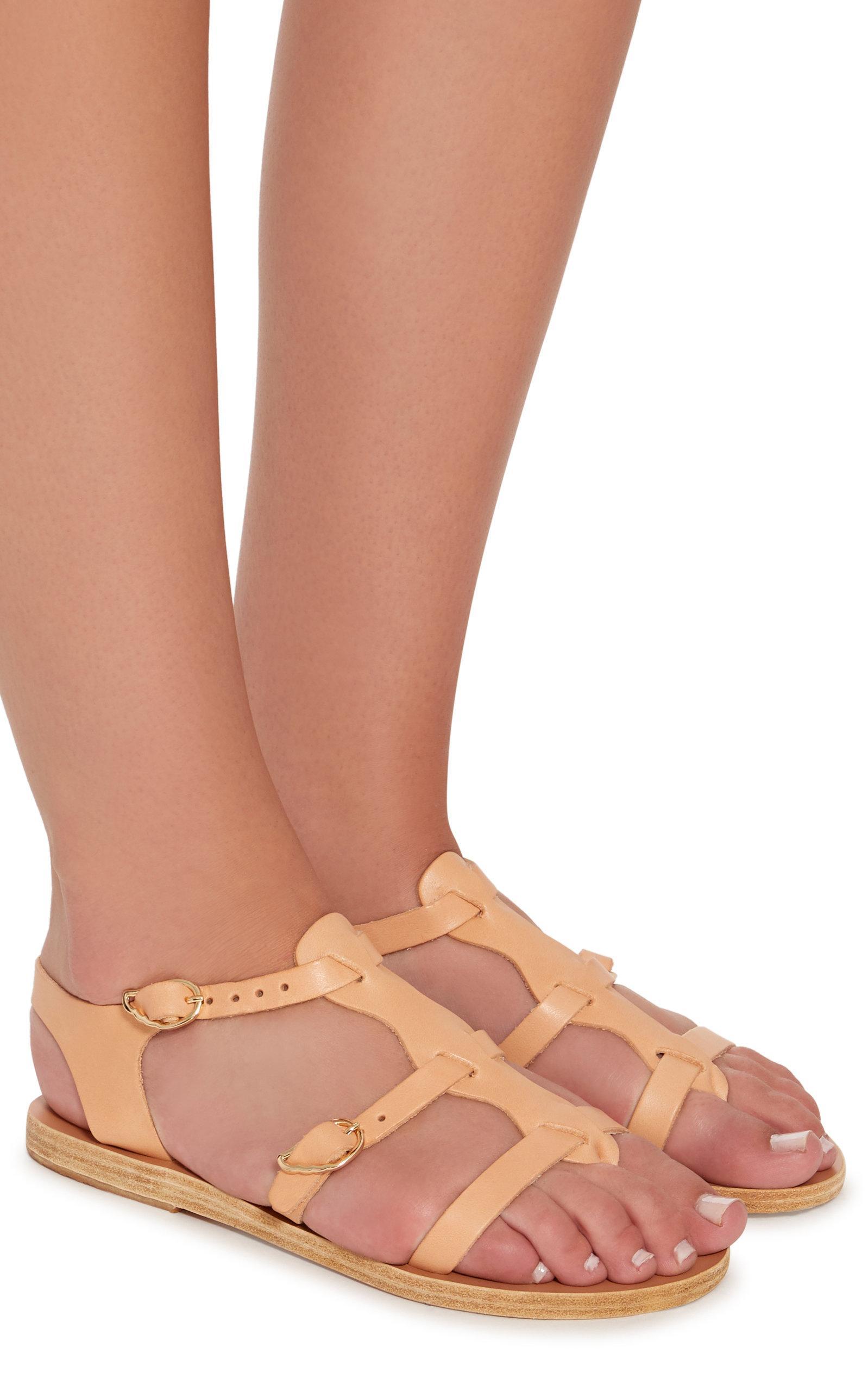 4f9c5200e Ancient Greek Sandals - Brown Grace Kelly Leather Sandals - Lyst. View  fullscreen