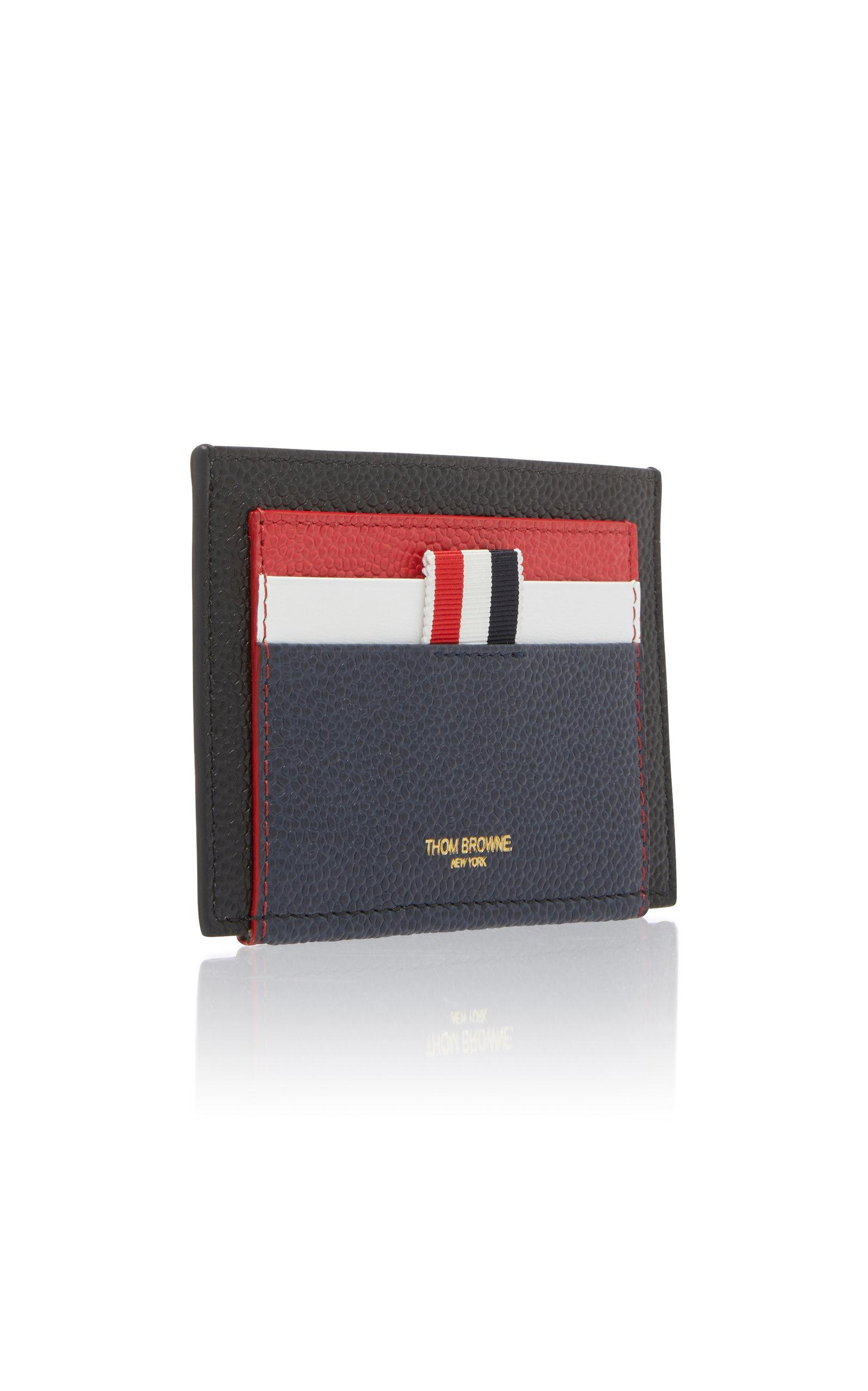 f454ee70dbf Lyst - Thom Browne Double-sided Color Block Leather Card Case in ...