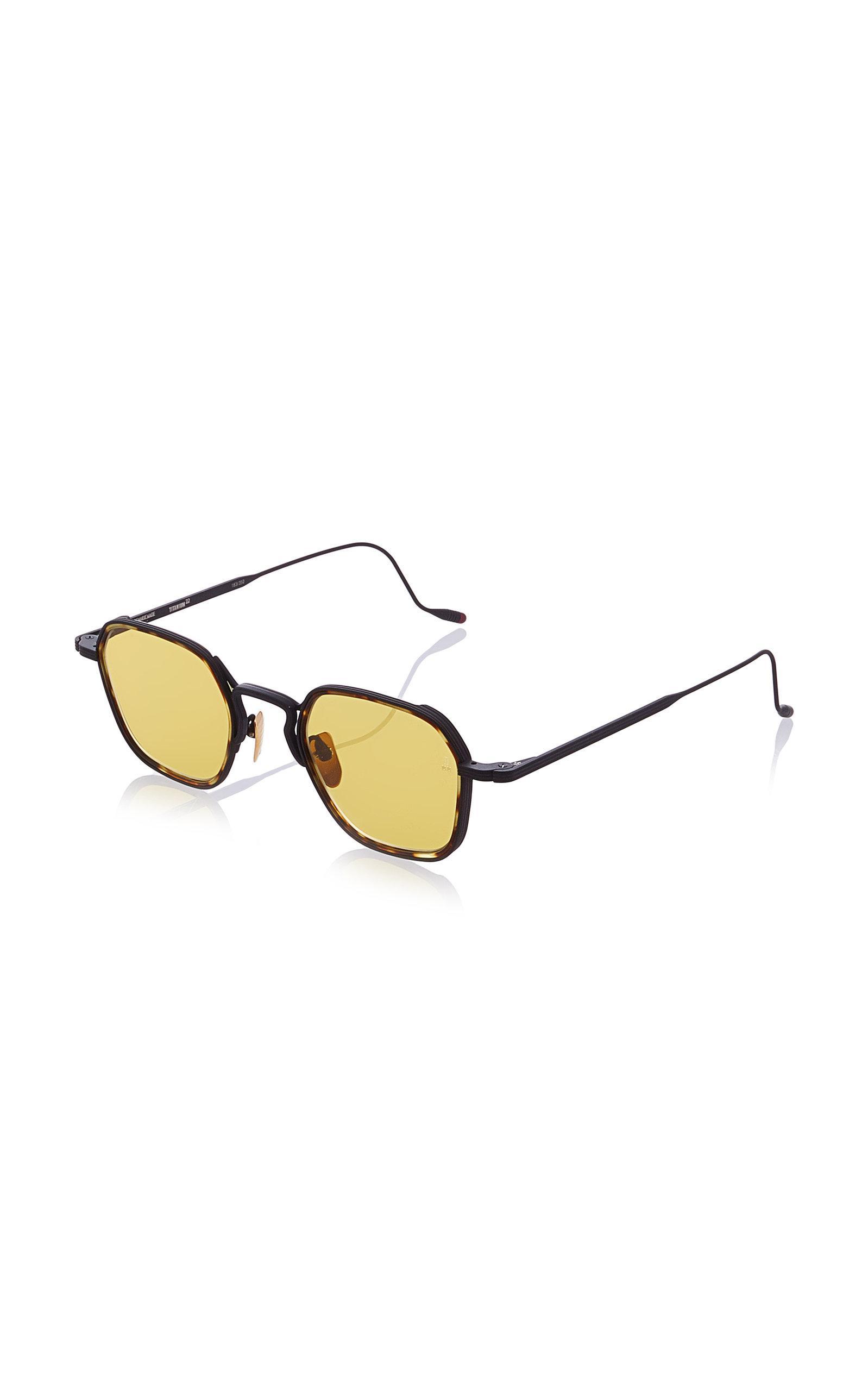 a8f2b86035 Jacques Marie Mage Wyatt Hexagon-frame Tortoiseshell Wire Sunglasses ...