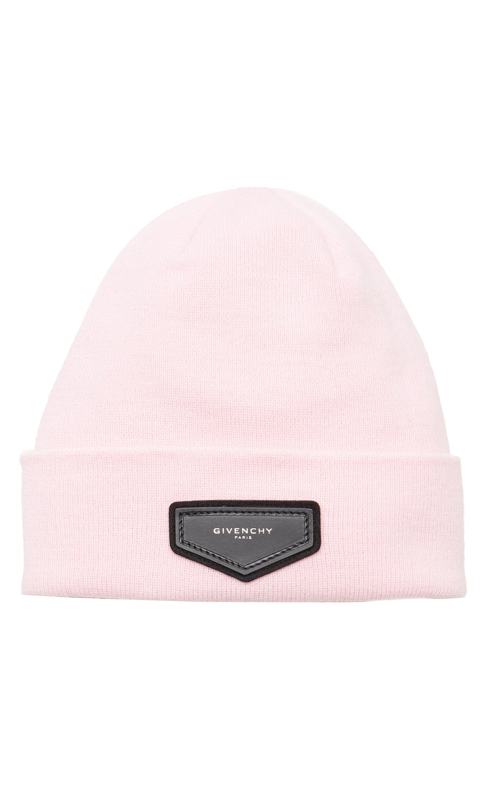 58f6d6ddf7c Lyst - Givenchy Beanie With Patch in Pink
