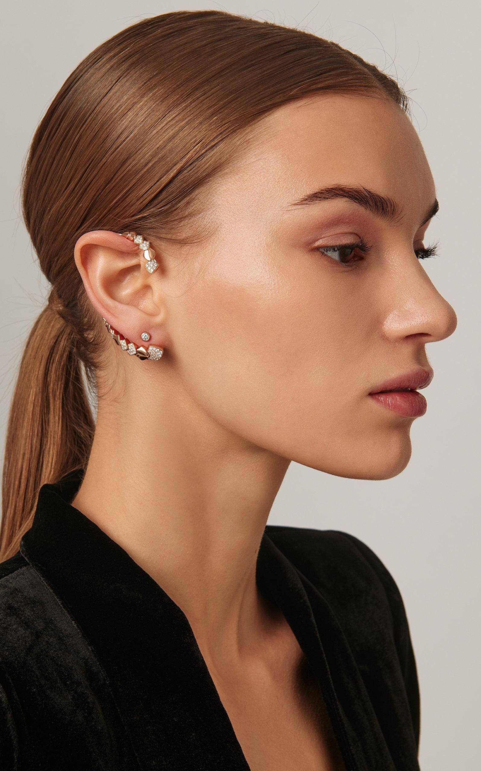 6581becf0 Akillis - Metallic Python 18k Gold Diamond Ear Cuff - Lyst. View fullscreen