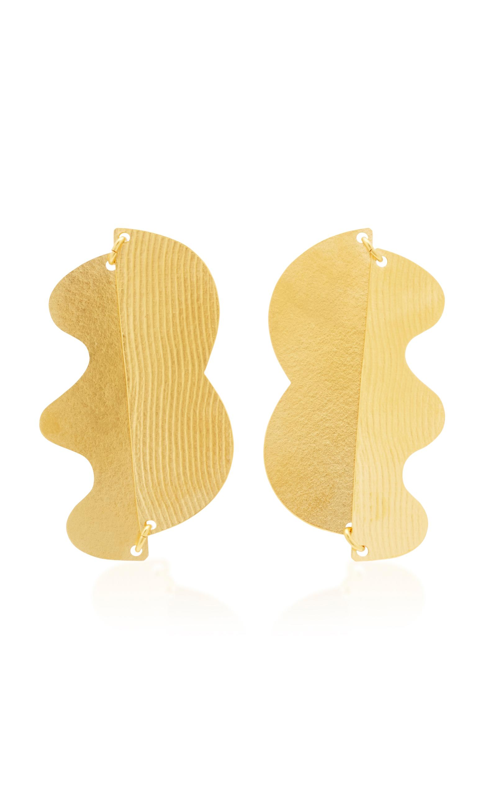Dova Gold-tone Earrings - one size Annie Costello Brown EkM58H7Q