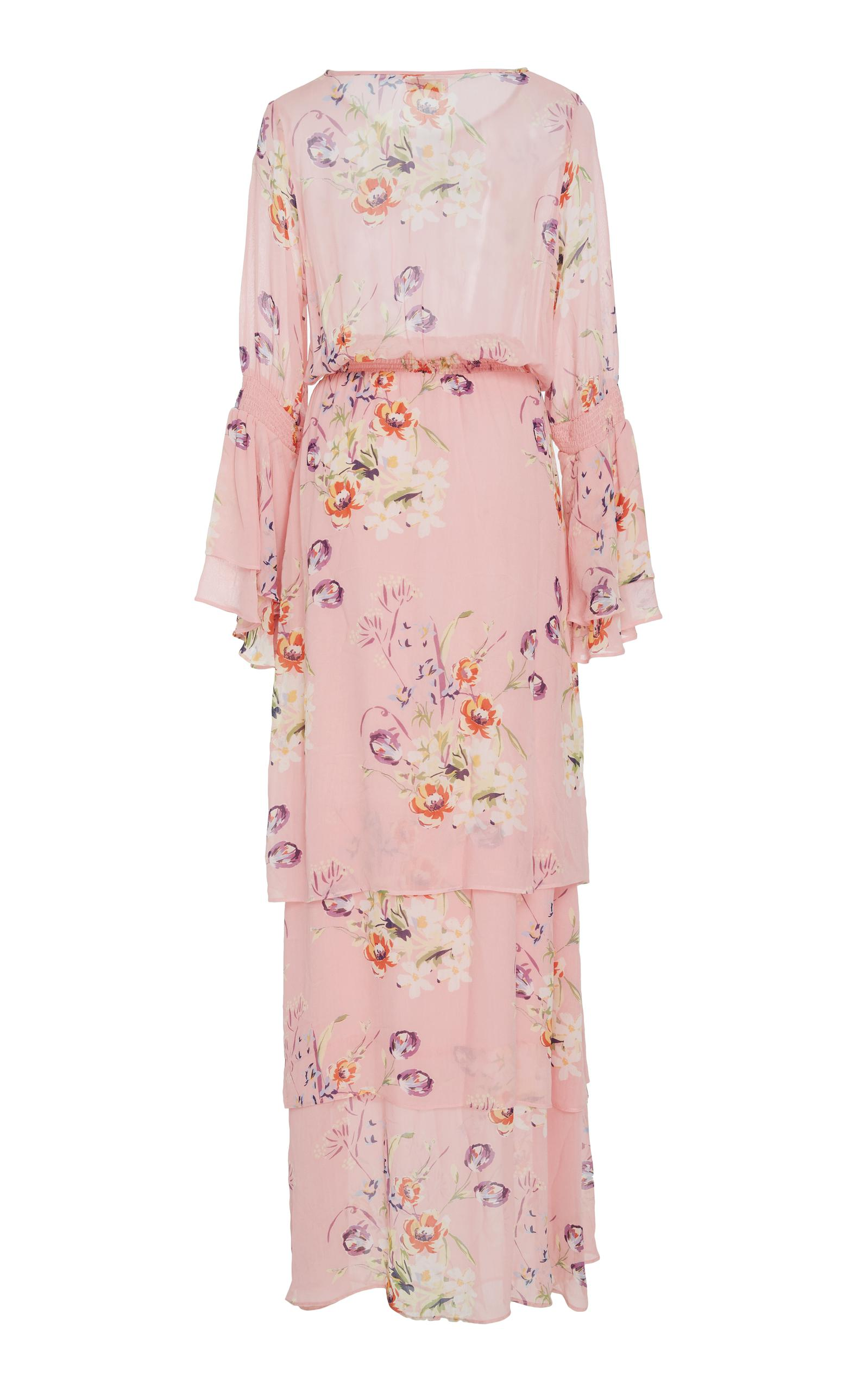 de0080ff Lyst - byTiMo Semi Couture Floral Gown in Pink