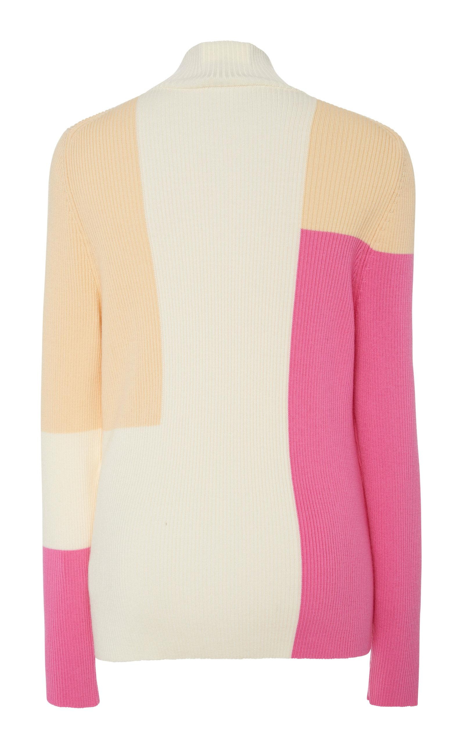Color block Wool Embellished Merino Sweater Delpozo v5a8q6ca
