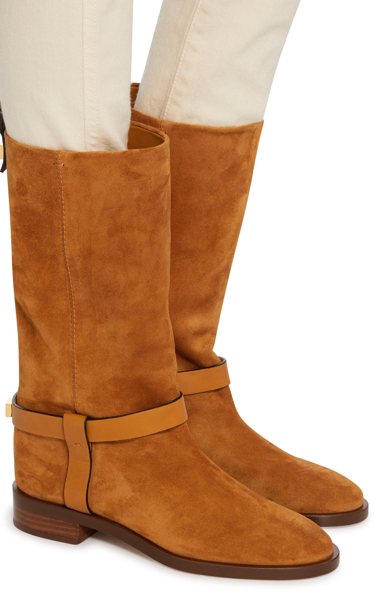Weitzman Leather Zwxp4q7vu Suede Trimmed Boots Casey Stuart Iw05Bx