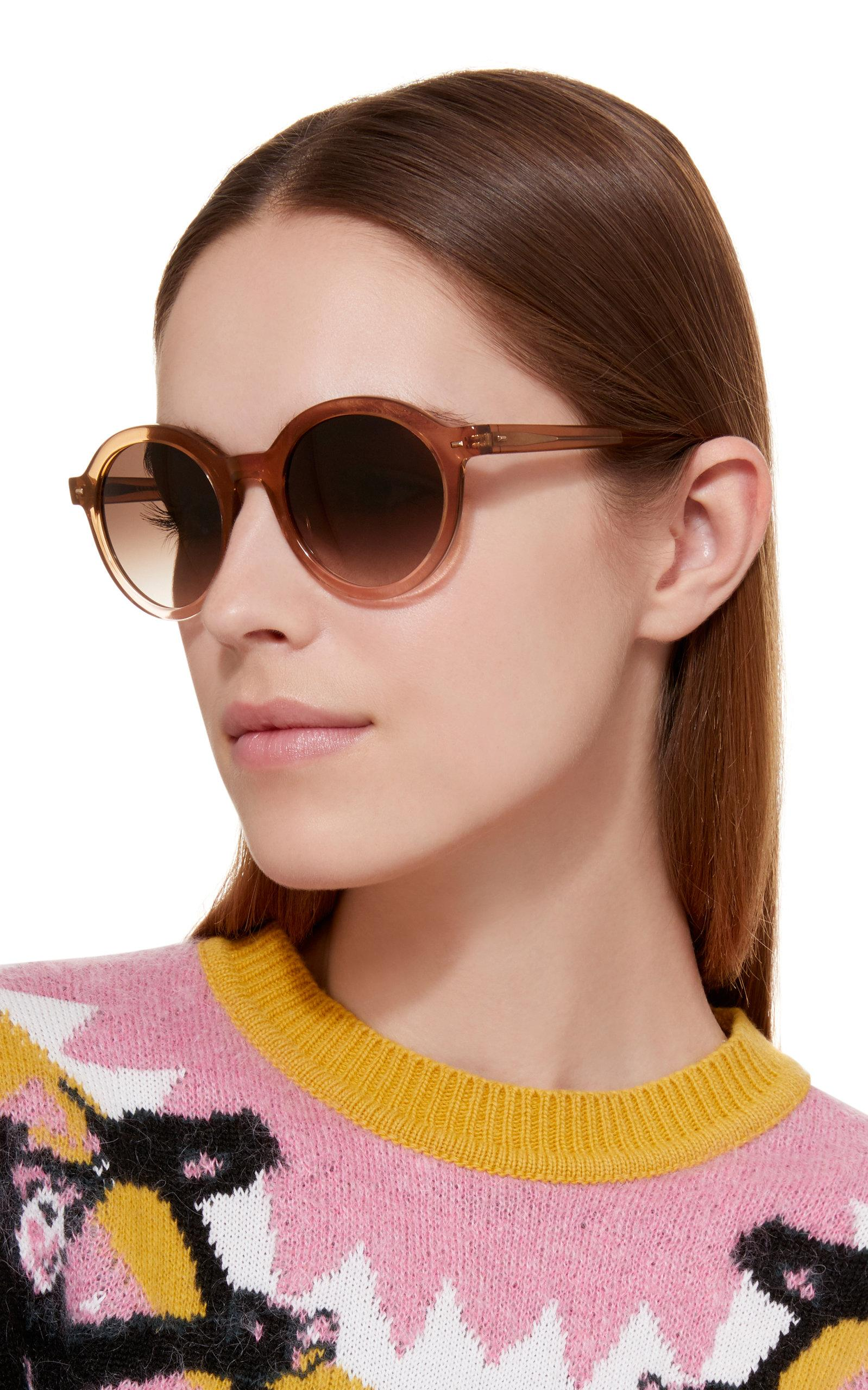 a49203d484c70 Kate Young For Tura Flora Round-frame Acetate And Metal Sunglasses ...