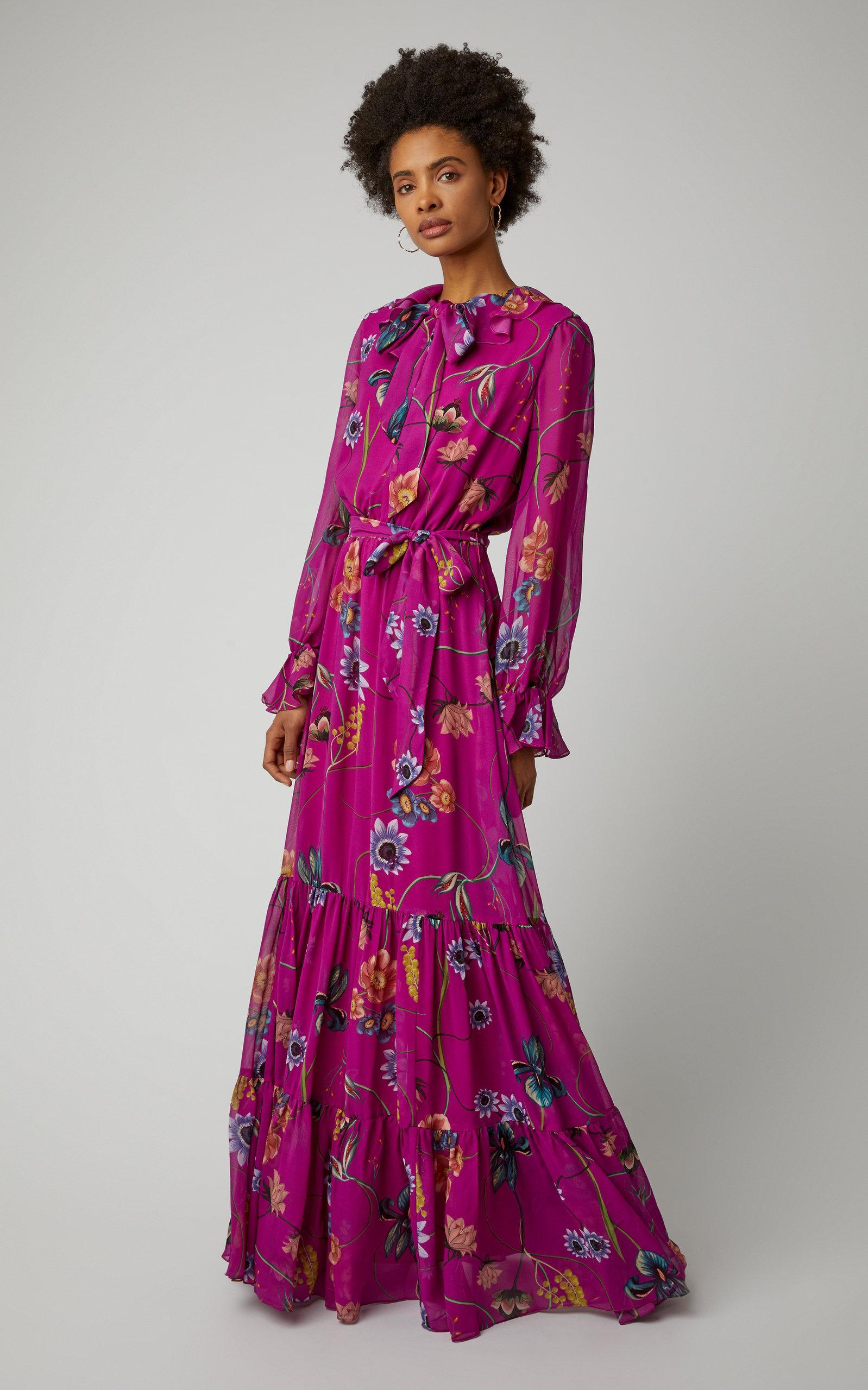 2c592c763633 Borgo De Nor - Multicolor Anna Silk-georgette Tiered Maxi Dress - Lyst.  View fullscreen
