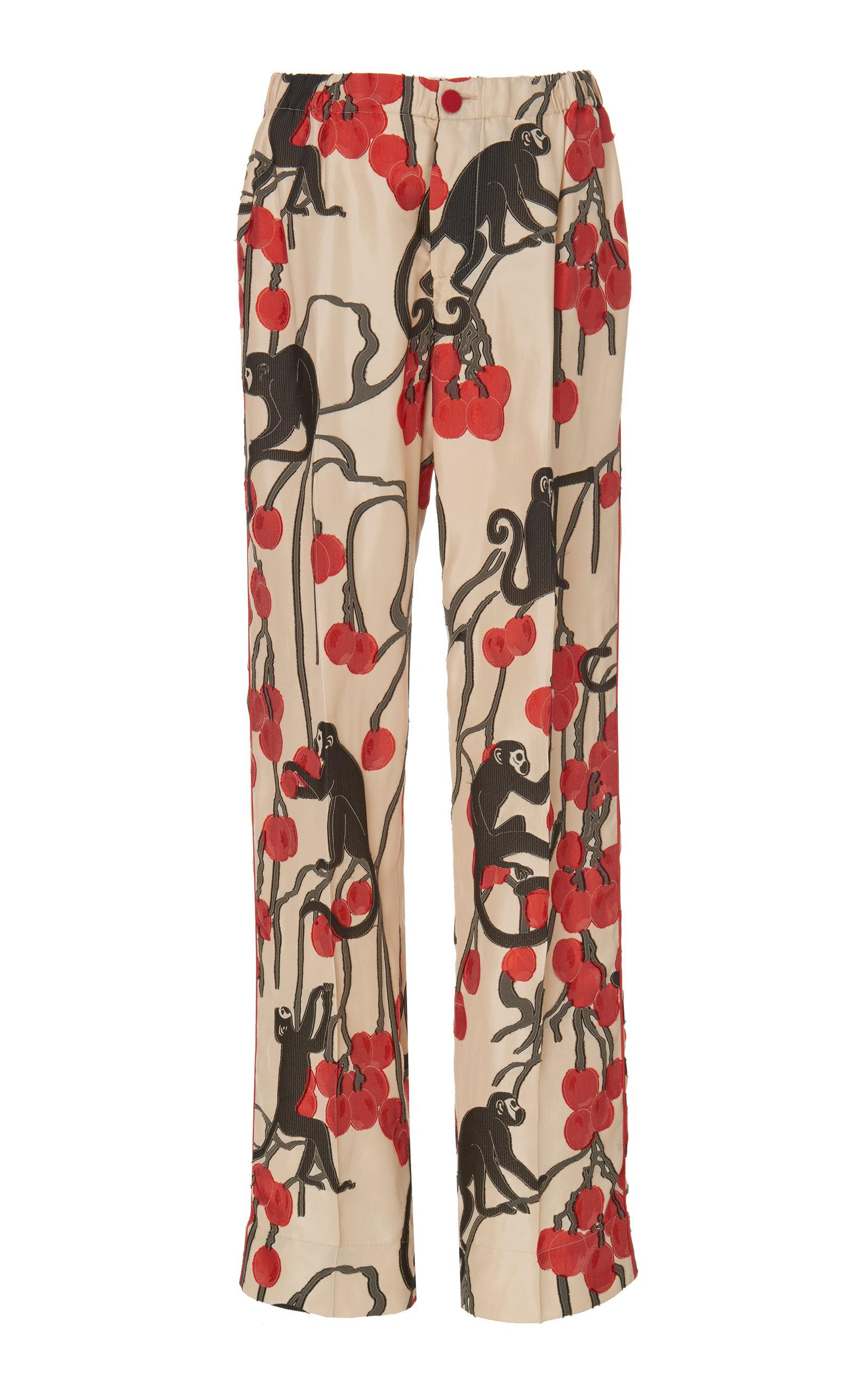 8def7817cfc9 Lyst - F.R.S For Restless Sleepers Etere 7° Silk-blend Pants in Red