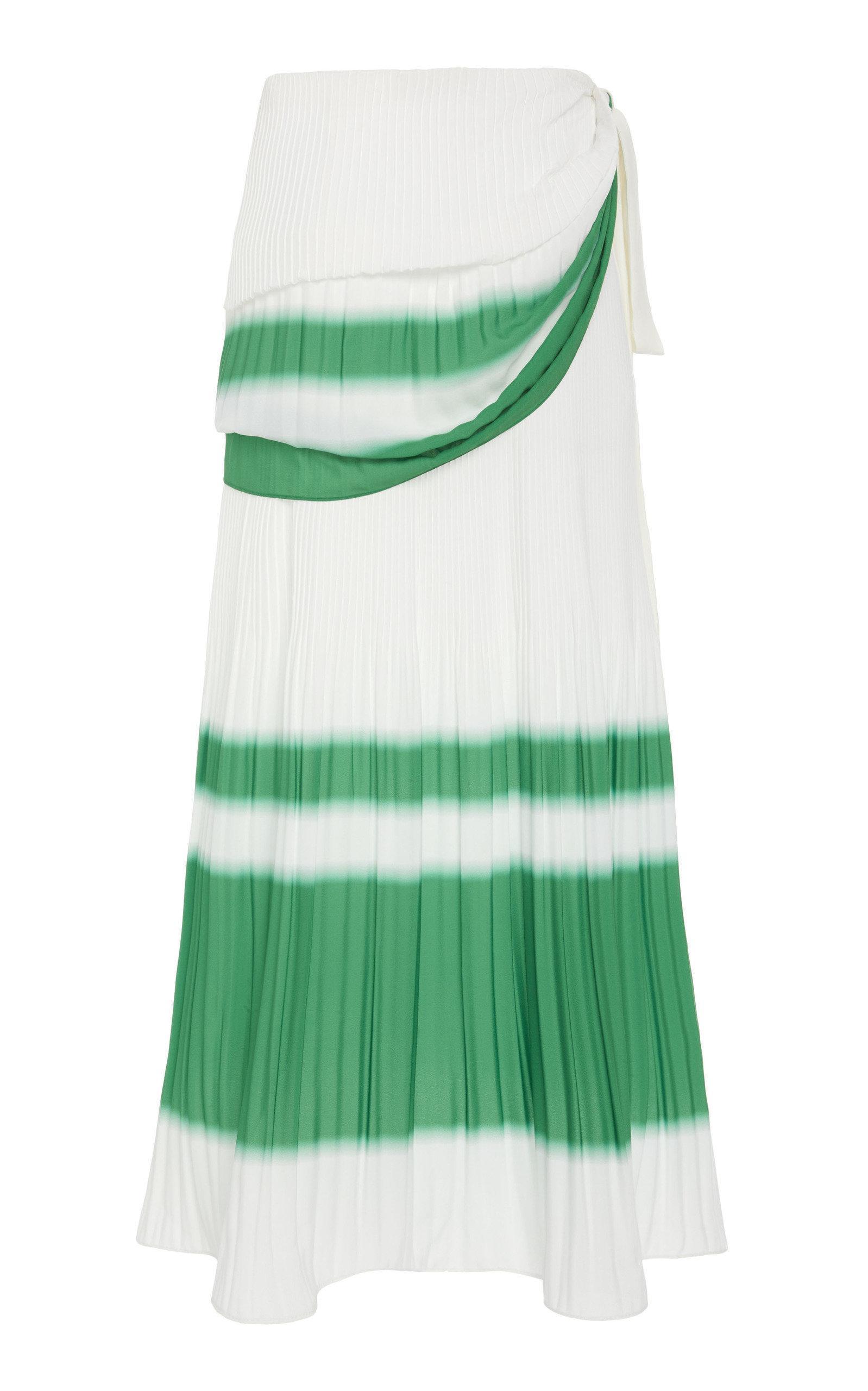 066912d6a1 Prabal Gurung Hary Draped Wrap Skirt in White - Lyst