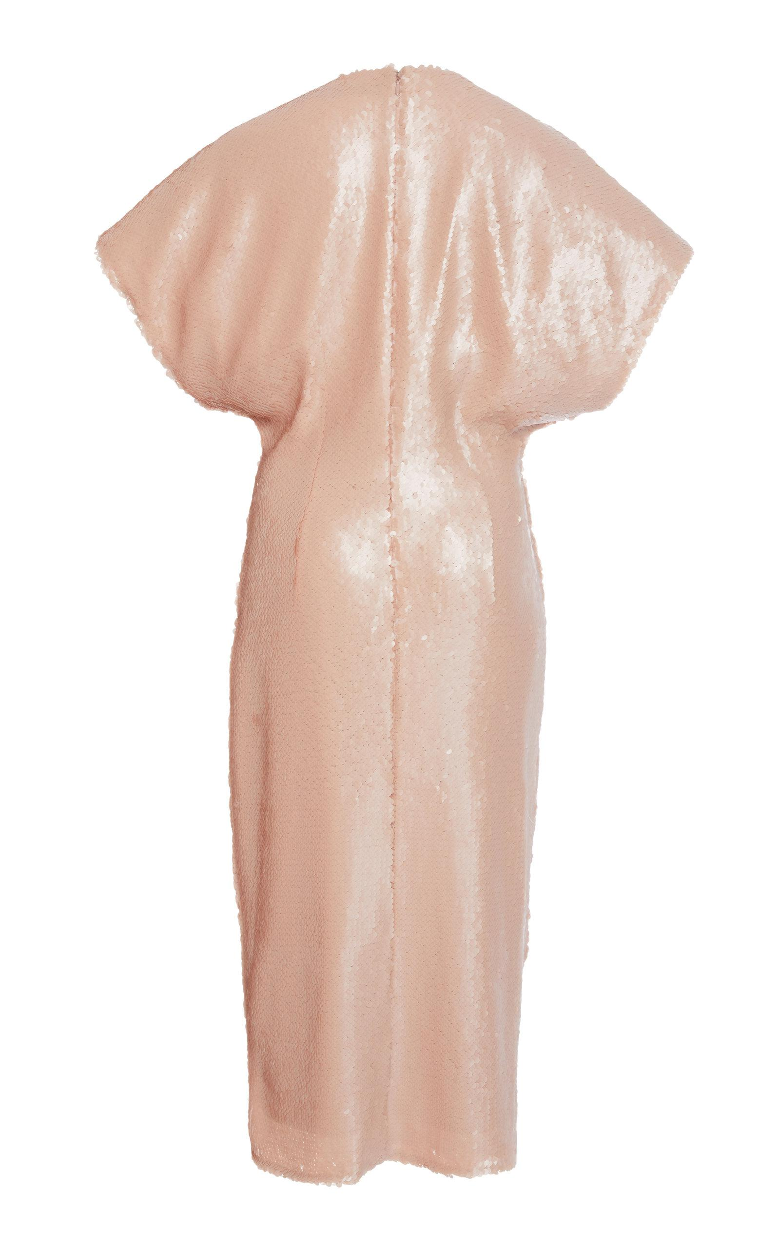 Stretch Sequin Cap Sleeve Dress Sally Lapointe iLL2YQUHW