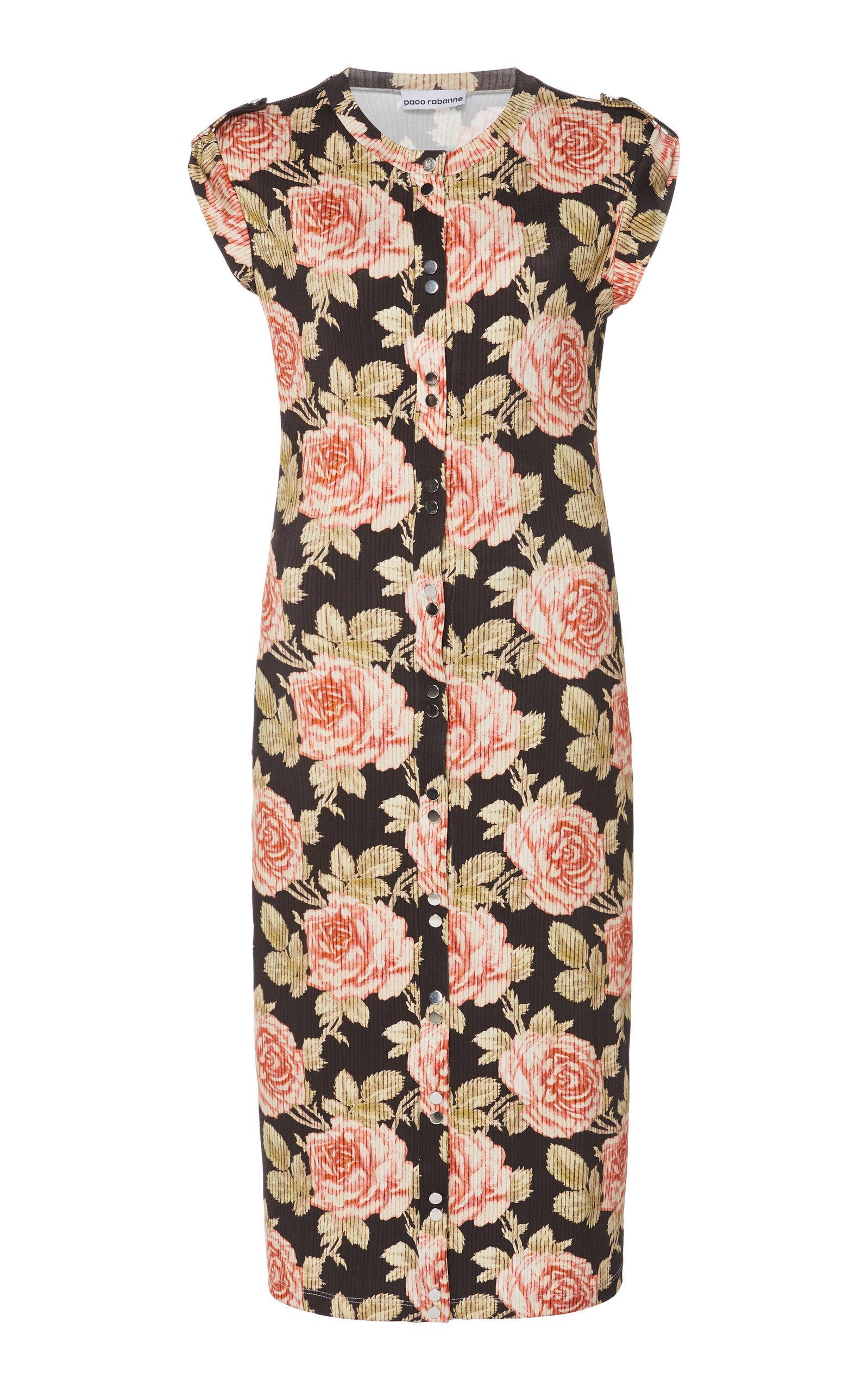 Paco Rabanne - Multicolor Printed Cotton Gauze Mini Dress - Lyst. View  fullscreen aa093faca