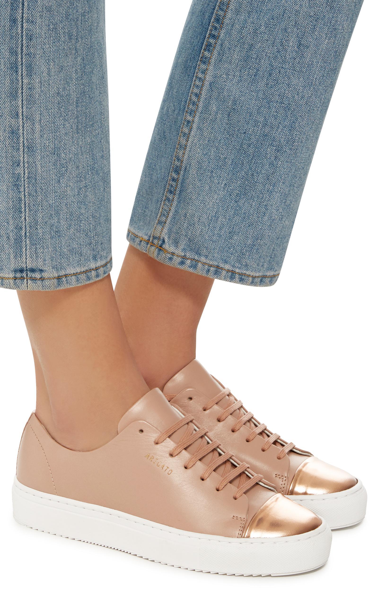 sélectionner pour l'original site réputé Nouvelle Women's Pink Cap Toe Leather Sneaker