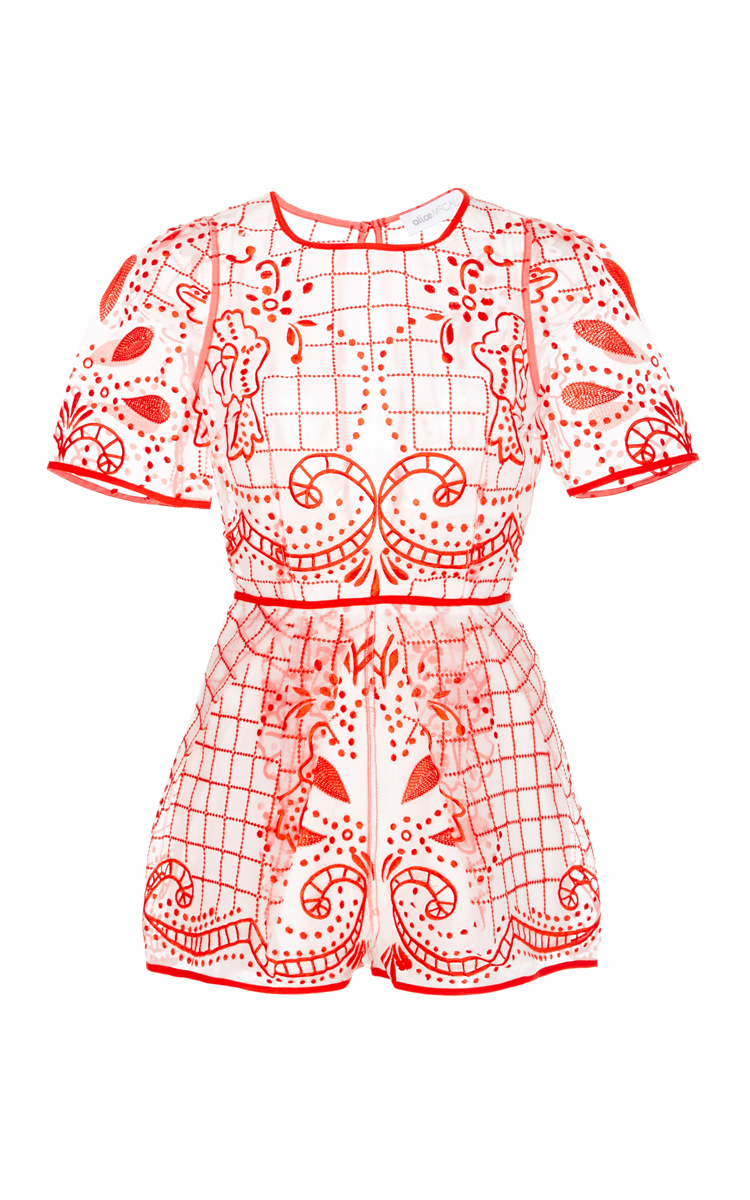 680e64fa20 Lyst - Alice McCALL Space Is Only Noise Playsuit in Red