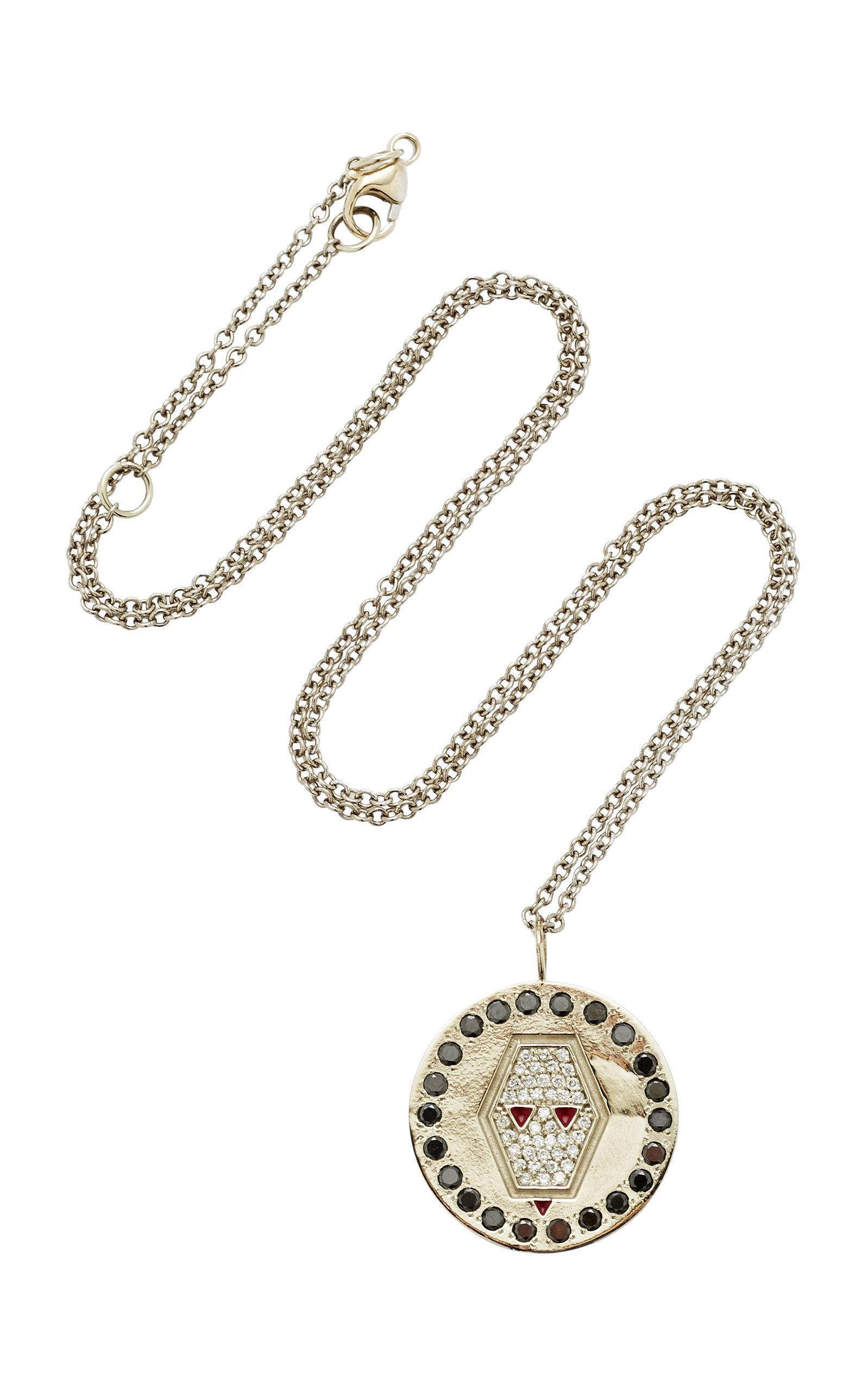 Lion Charm 18K Gold Diamond Necklace Misahara M9P4ECpBs