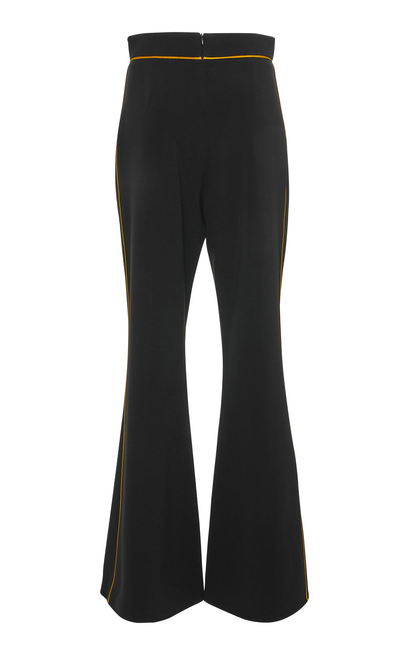 Contrast High-Rise Satin Flared Pants Peter Pilotto zECcL04uop